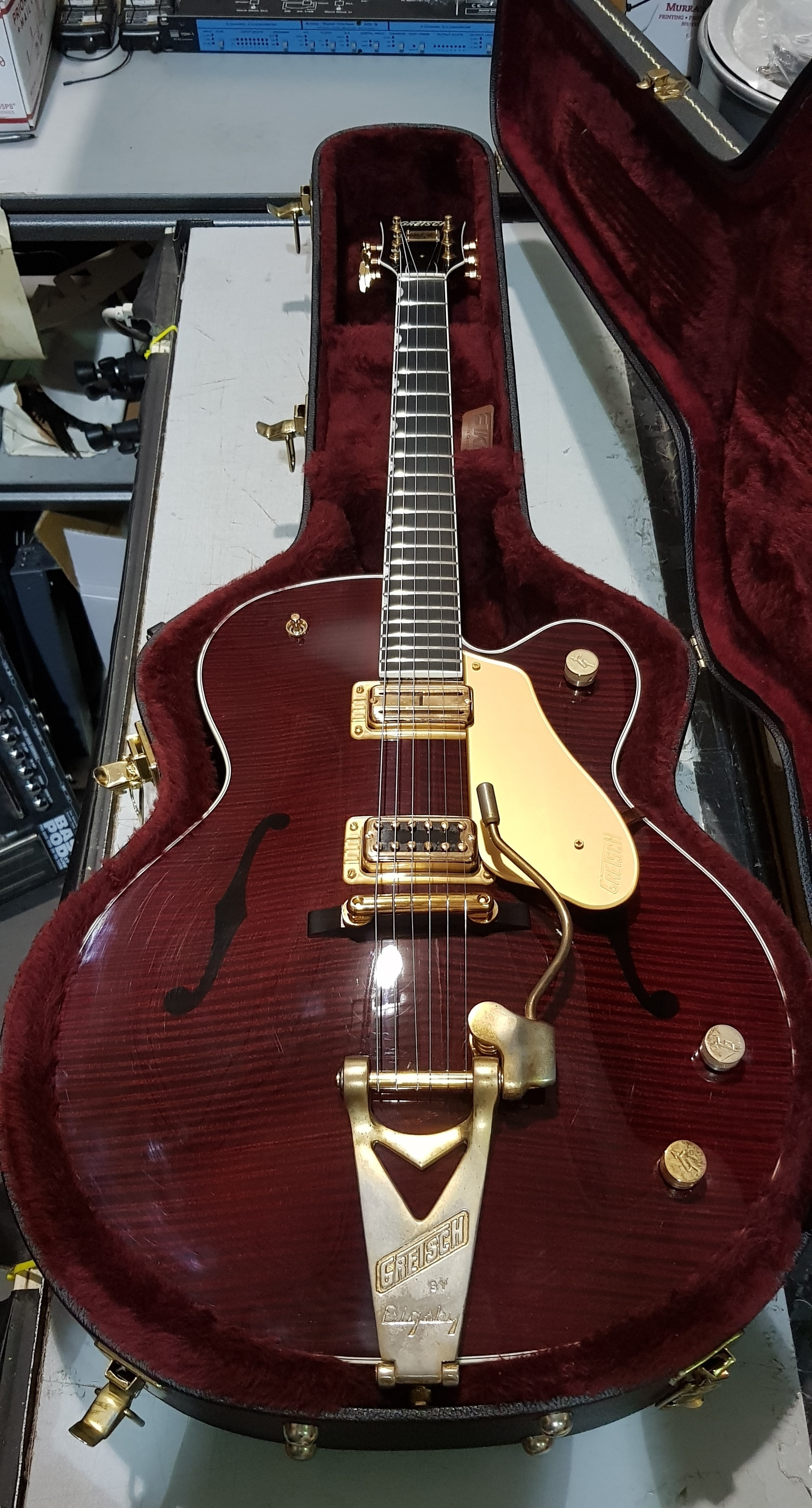 2003 GRETSCH G6122-1959 Reissue Nashville Country Classic *HSC* Transparent Red