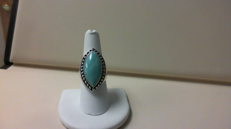 UNISEX TURQUOISE MARQUISE STATEMENT COCKTAIL RING 925 STERLING SILVER SIZE 8