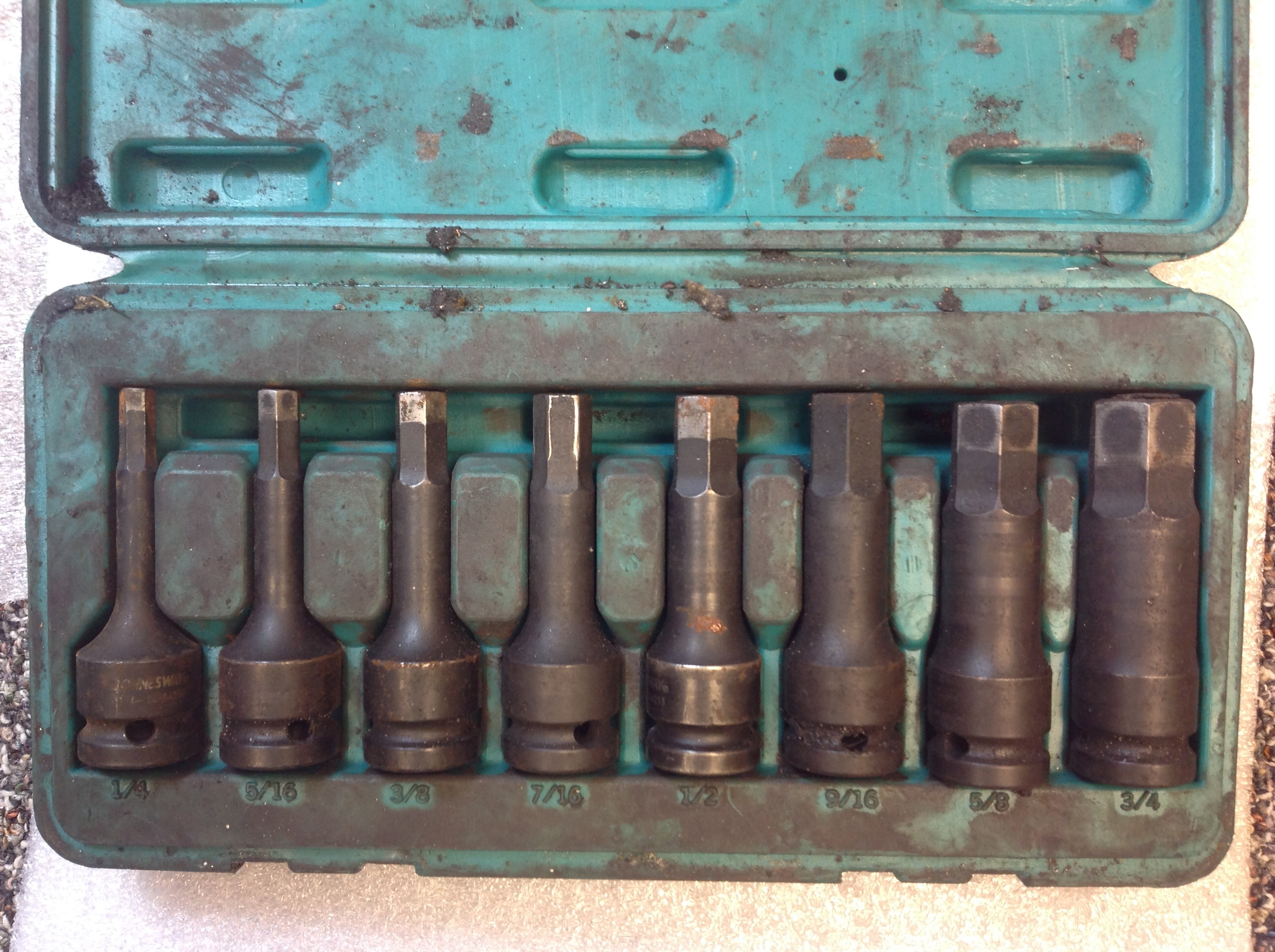 JONNESWAY 8-PC SOCKET BIT SET
