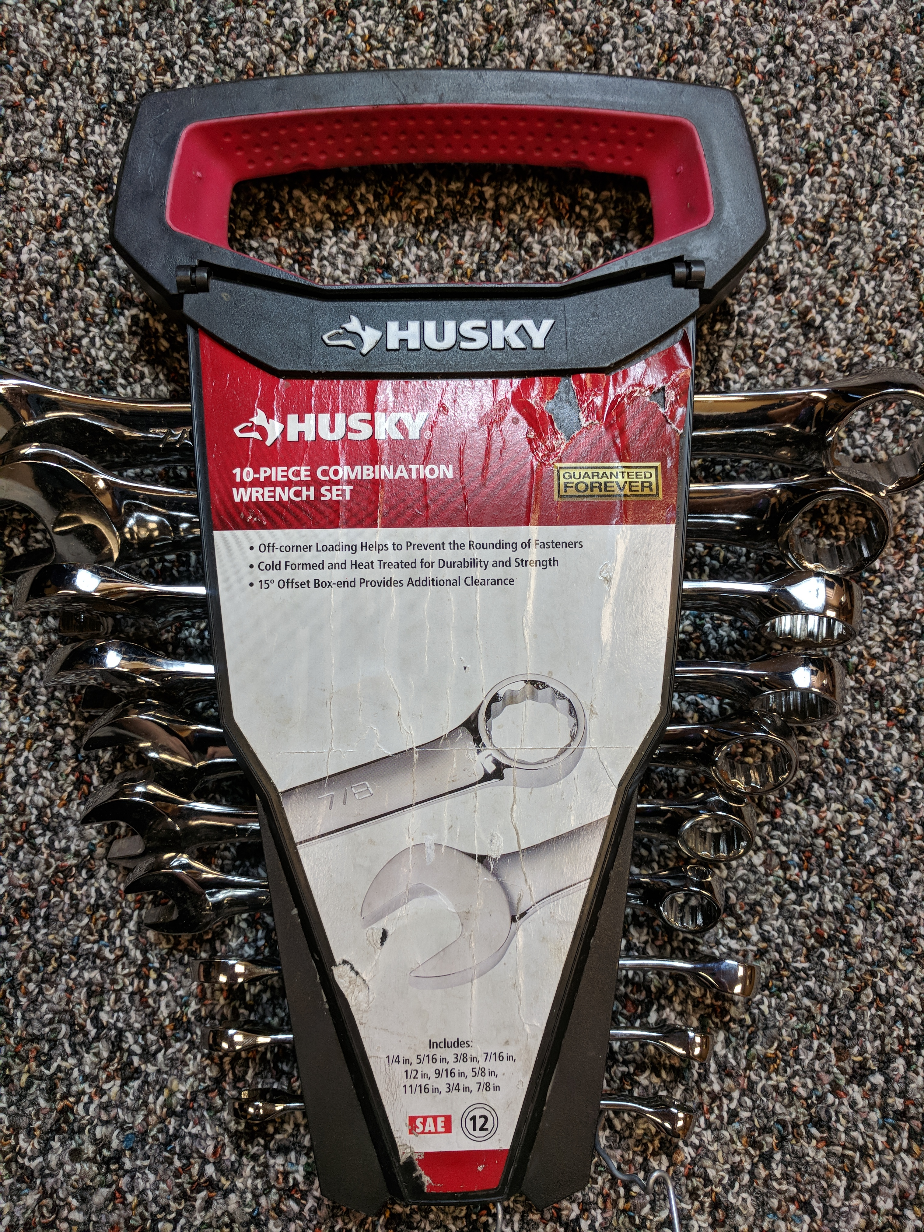 HUSKY 10-PIECE COMBINATION WRENCH SET