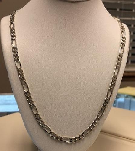 .925 Silver 16.0g Figaro Chain 20
