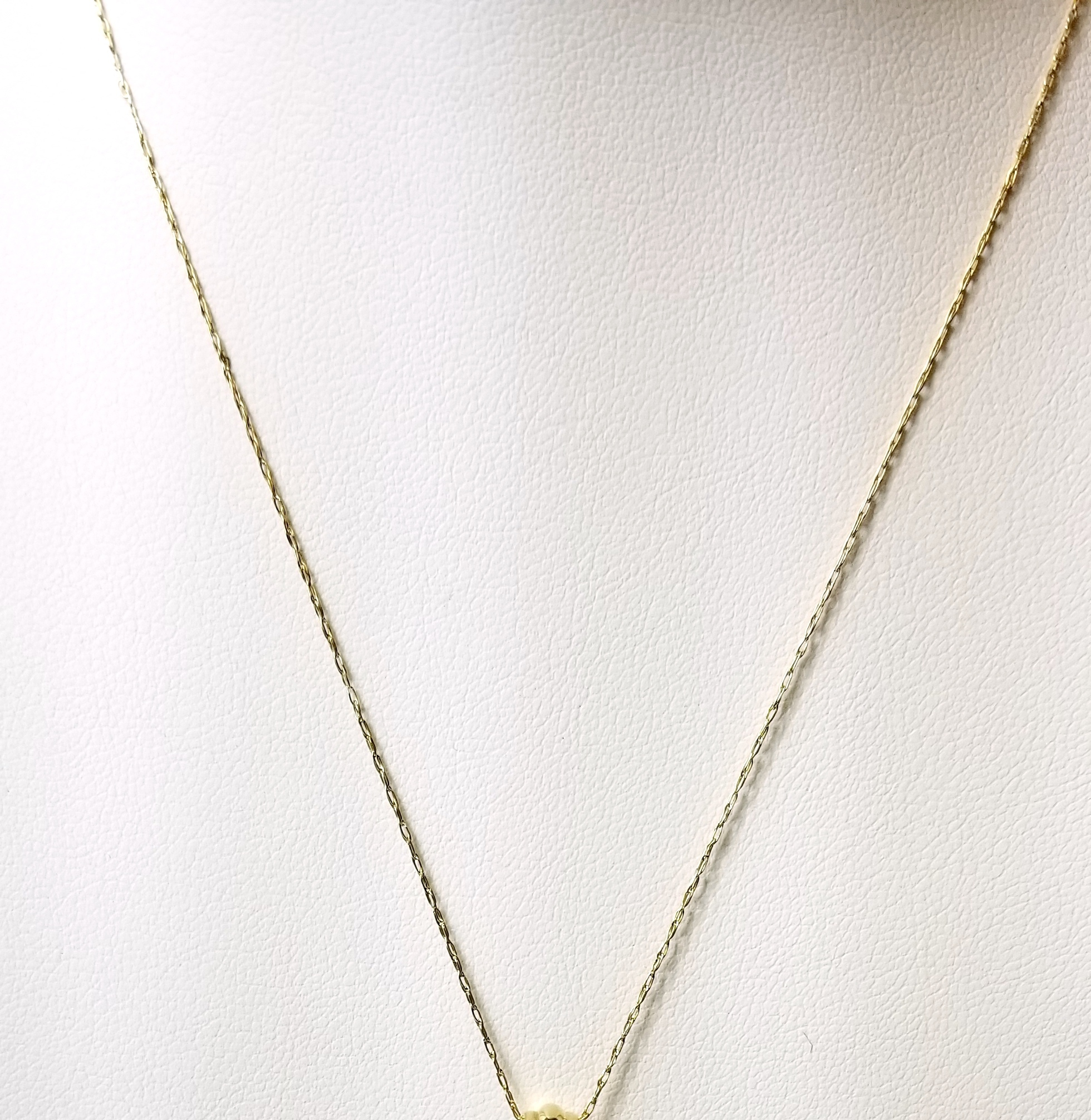 14K Yellow Gold .60g Double Links Chain 16