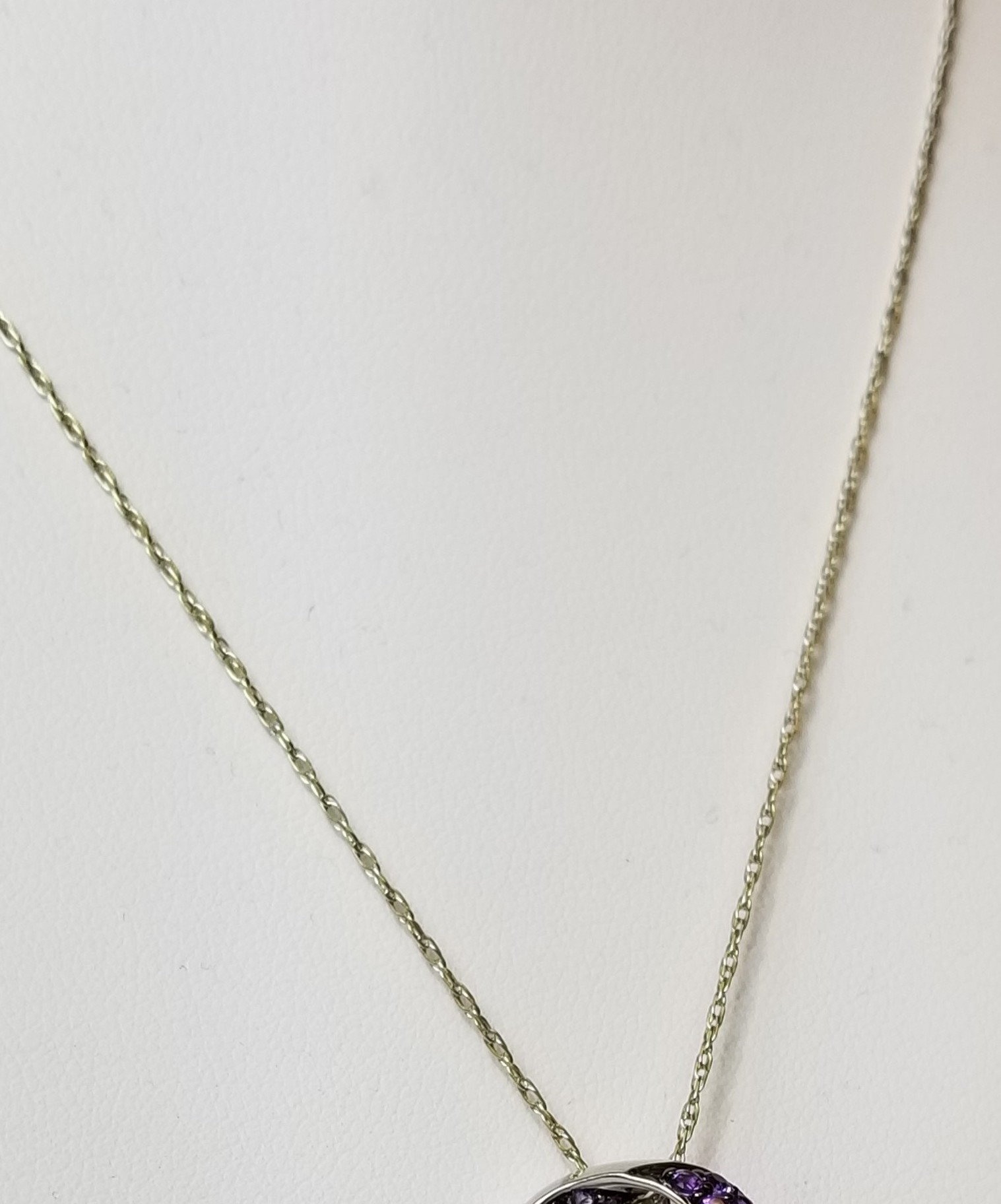 Double Link Chain 14K White Gold 1.3g