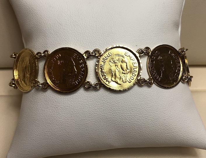 Coin Links Bracelet 14K Yellow Gold 20.6g