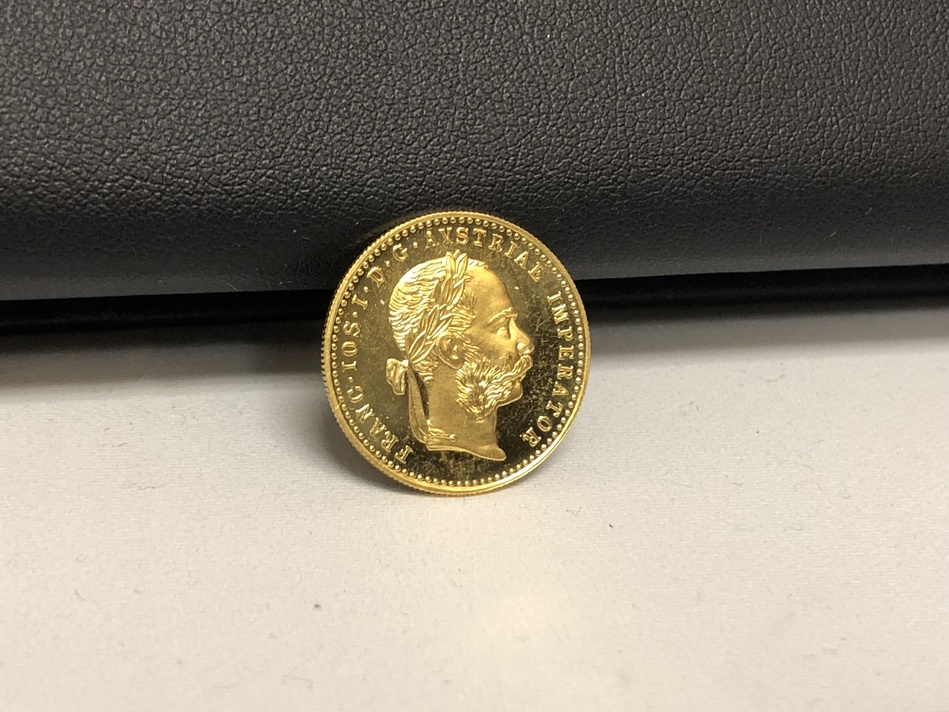 1915 AUSTRIA DUCAT -FRANC.JOS.I.D.G.AVSTRIAE IMPERATOR- GOLD COIN