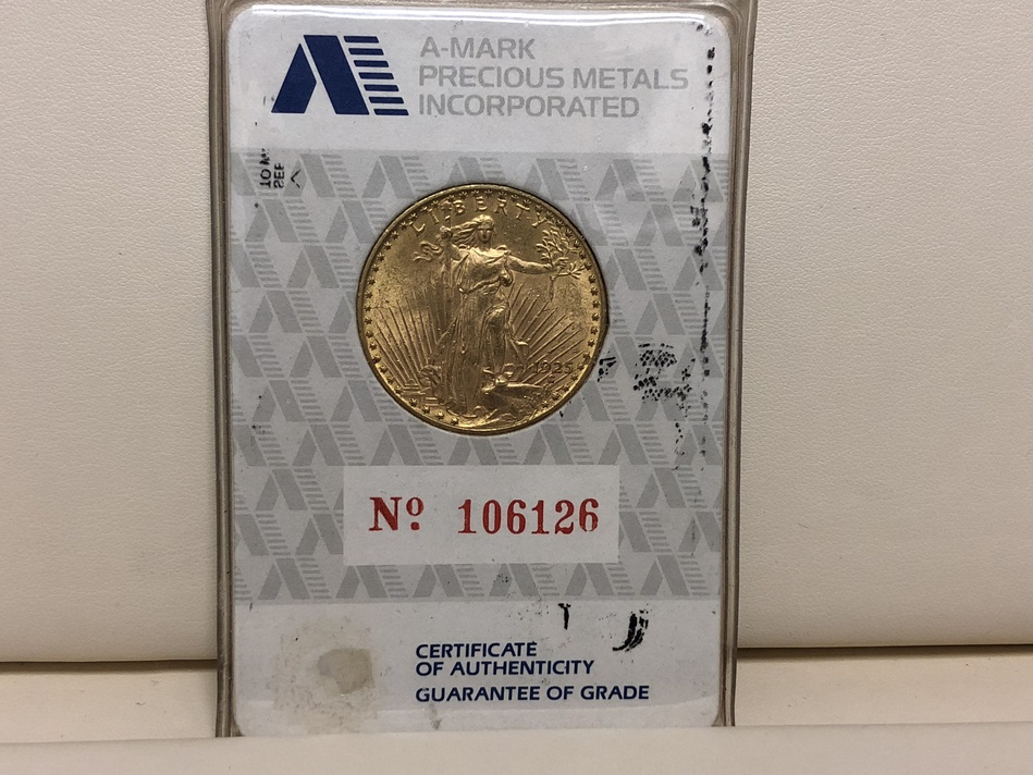 1925 DOUBLE EAGLE ST GAUDEN'S GOLD COIN $20 XF