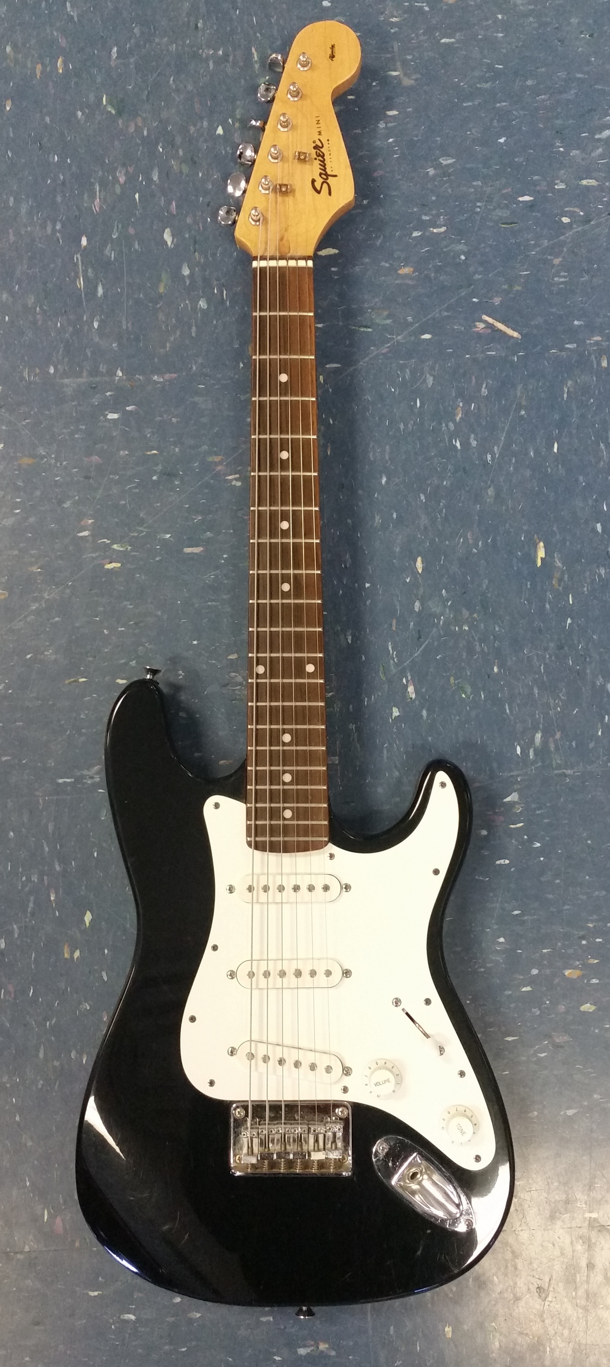 SQUIER BY FENDER MINI BLACK ELECTRIC GUITAR