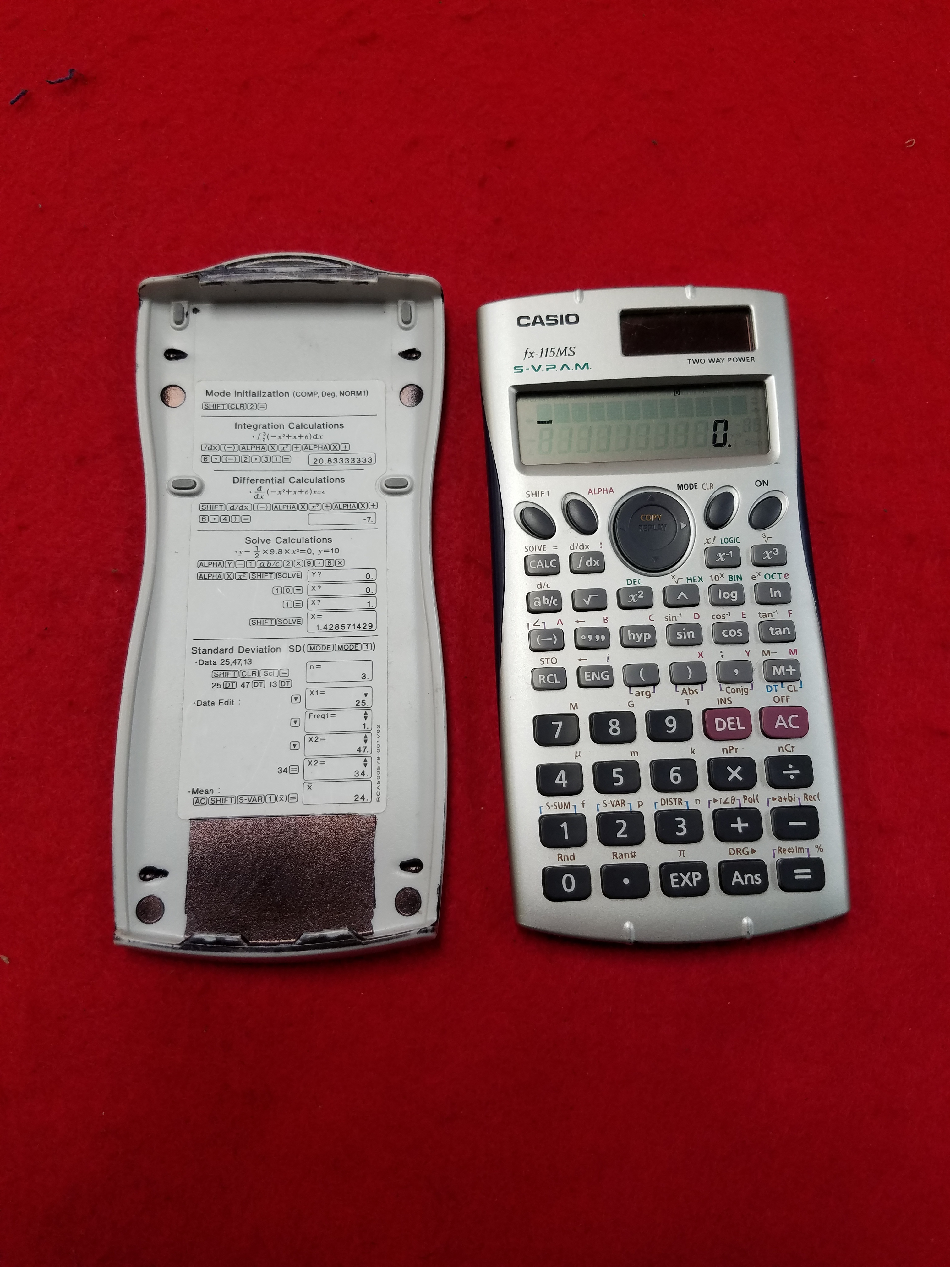 ELECTRONICS: CASIO FX-115MS CALCULATOR