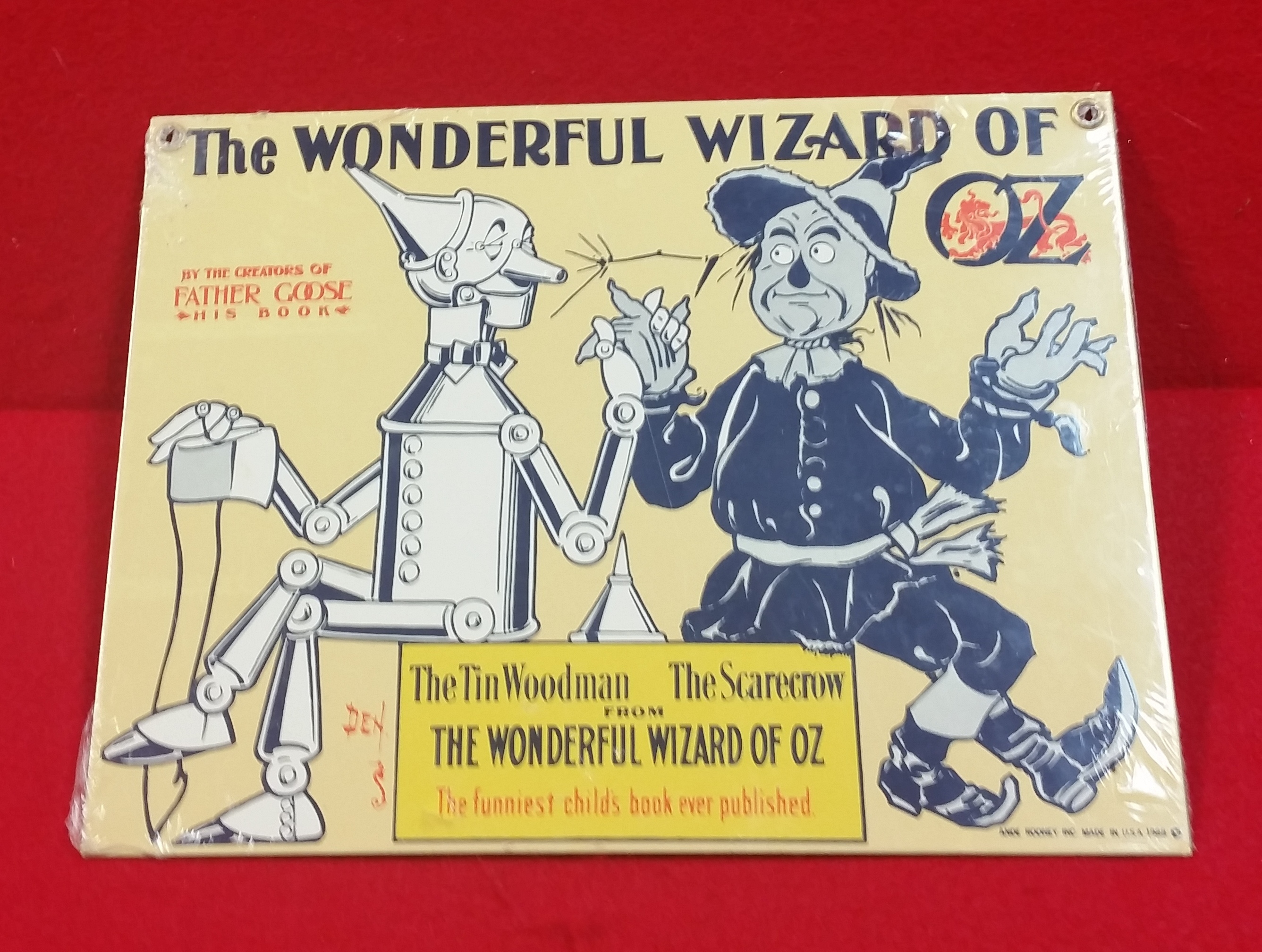 VINTAGE STYLE TIN SIGN - WIZARD OF OZ - SIGN COLLECTIBLES