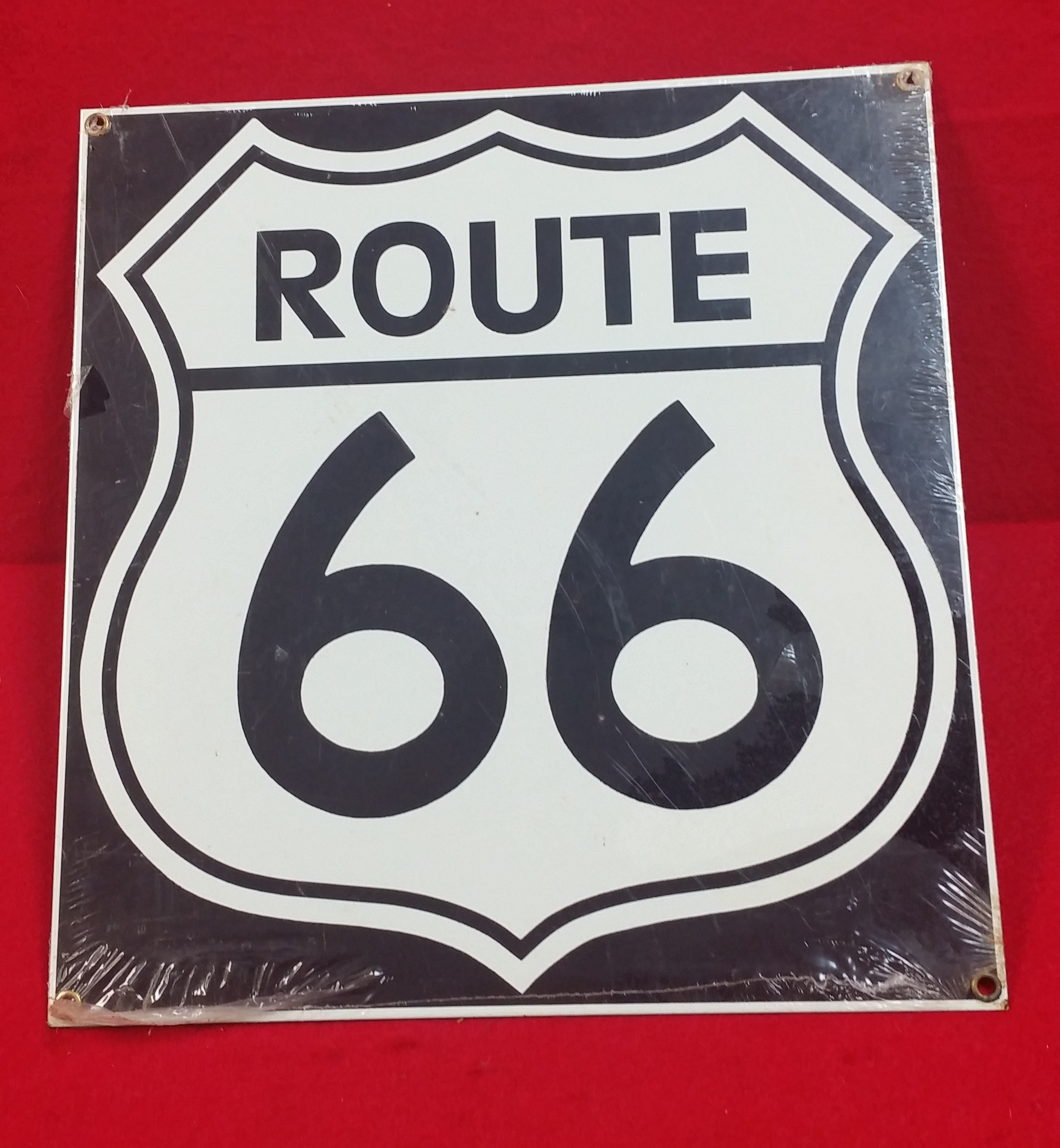 VINTAGE STYLE TIN SIGN - ROUTE 66 - SIGN COLLECTIBLES