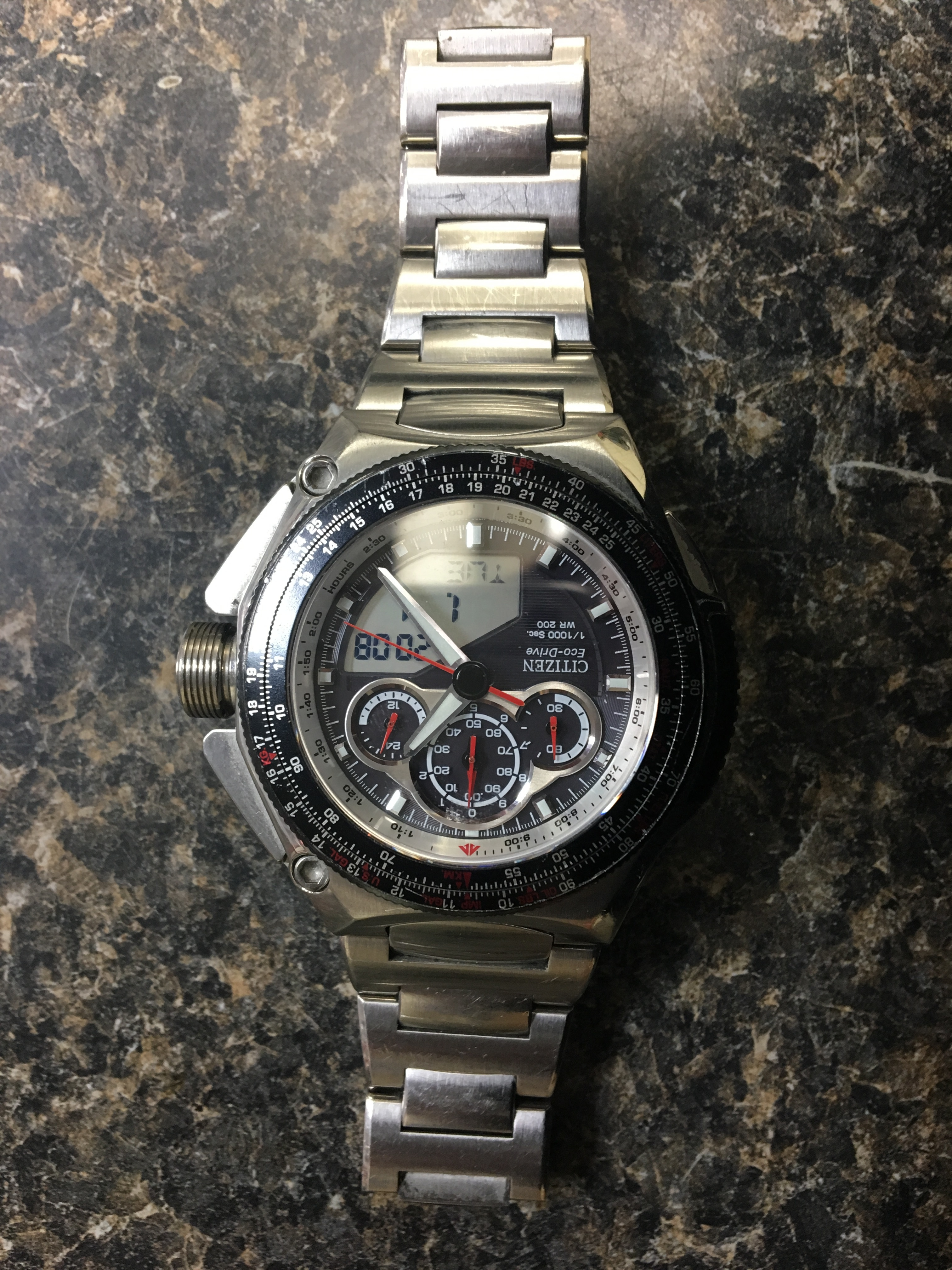 JEWELRY: CITIZEN - PROMASTER SSS - STAINLESS STEEL- FOR PARTS OR REPAIR ONLY