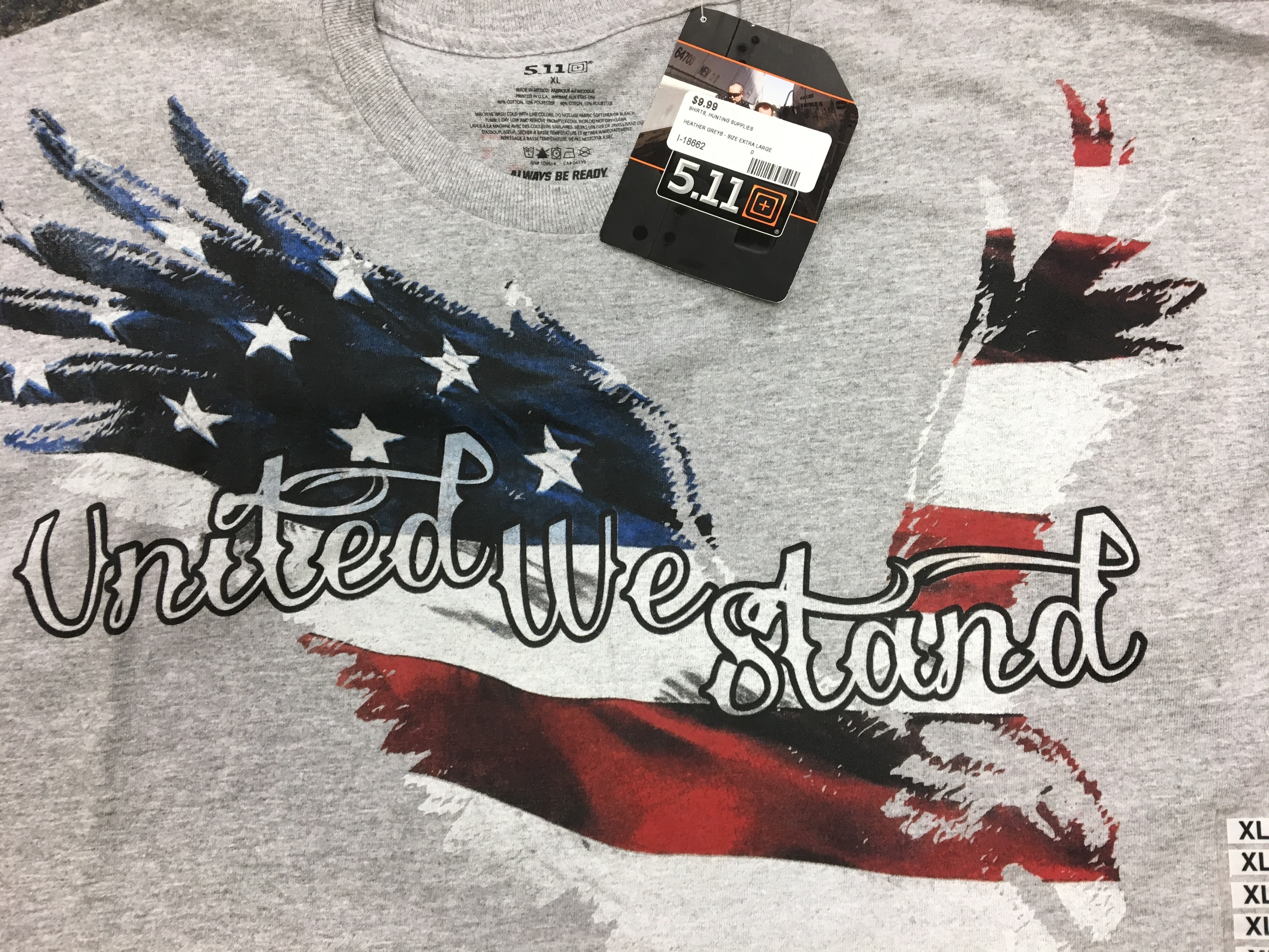 5.11 TACTICAL GEAR - UNITED WE STAND XL T-SHIRT