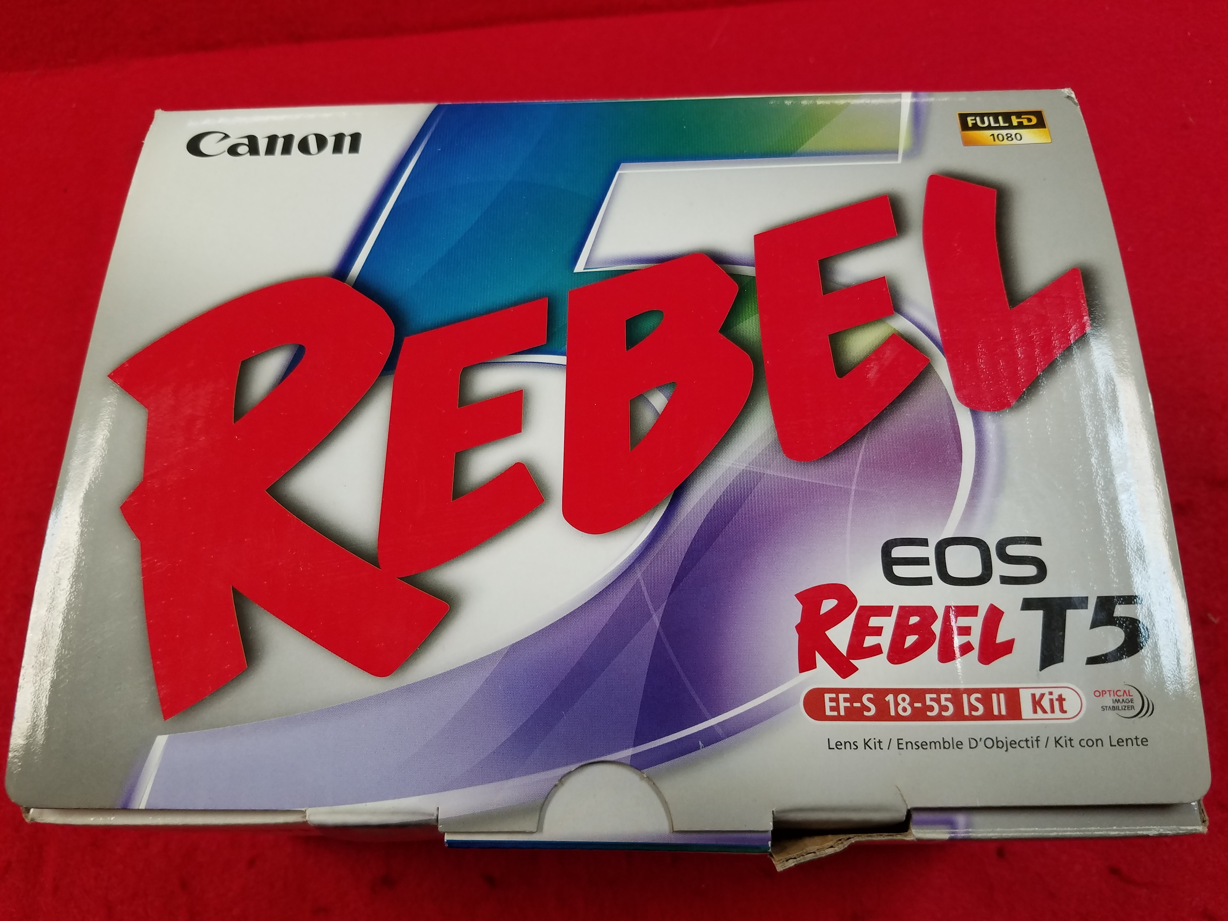 CANON - EOS REBEL T5 KIT IN BOX W/ BATTERY, CHARGER, LENS, & MANUAL