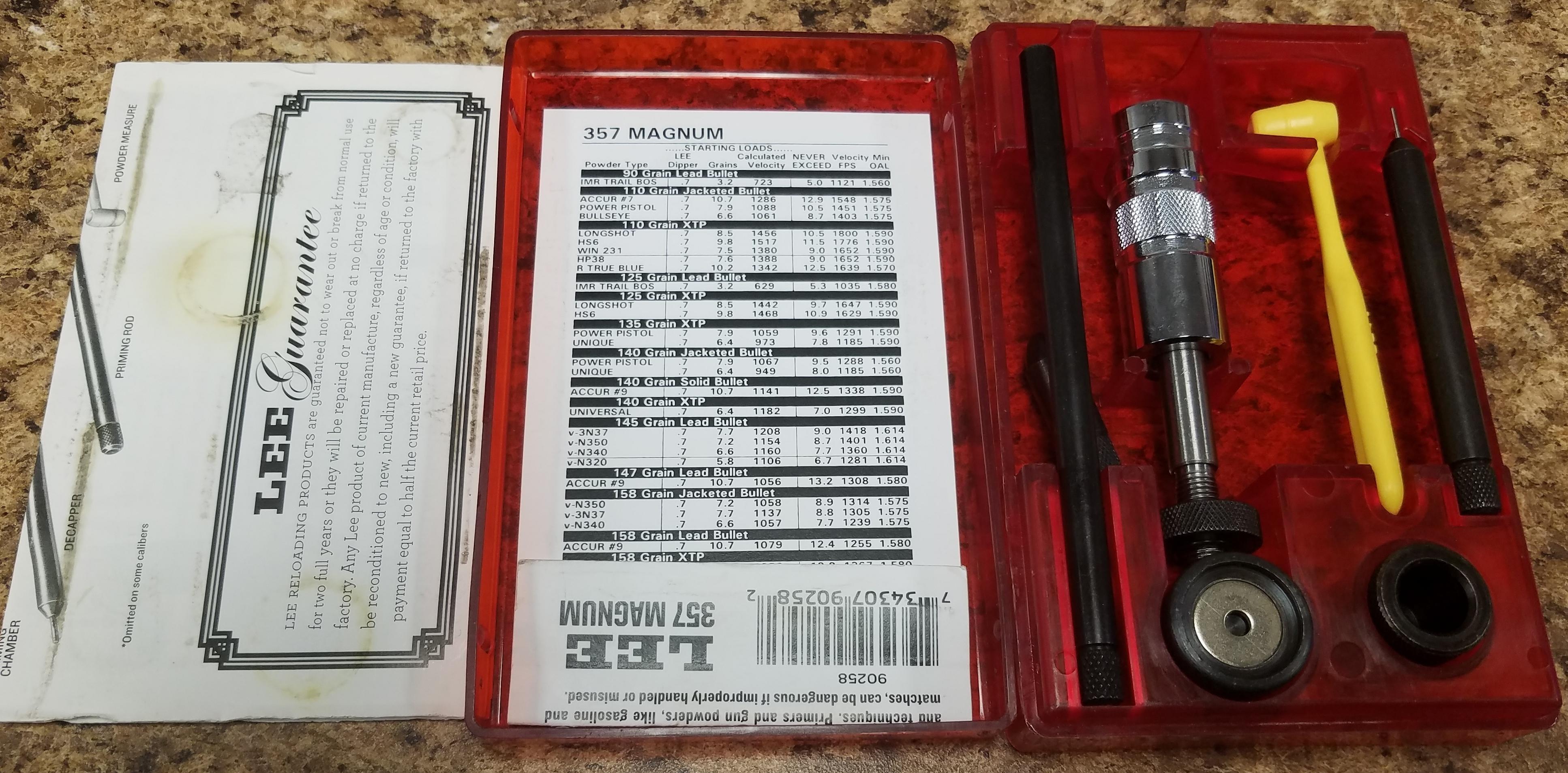 LEE - 357 MAGNUM - RELOAD KIT