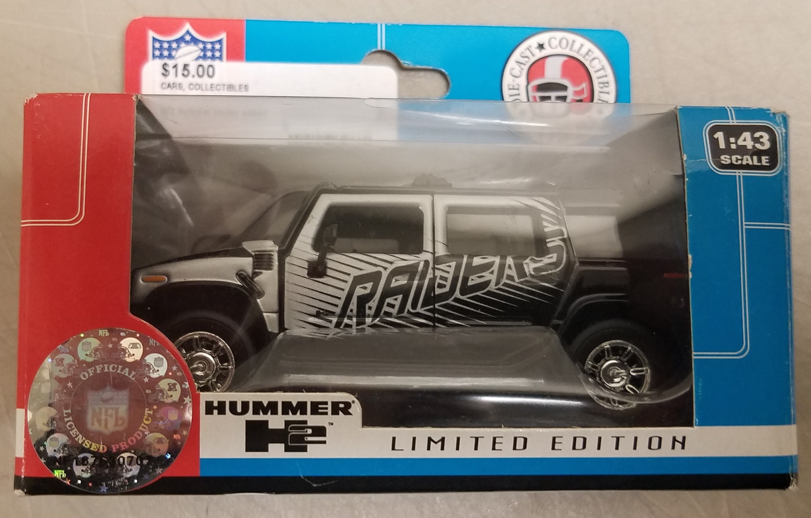 NFL RAIDERS LIMITED EDITION HUMMER