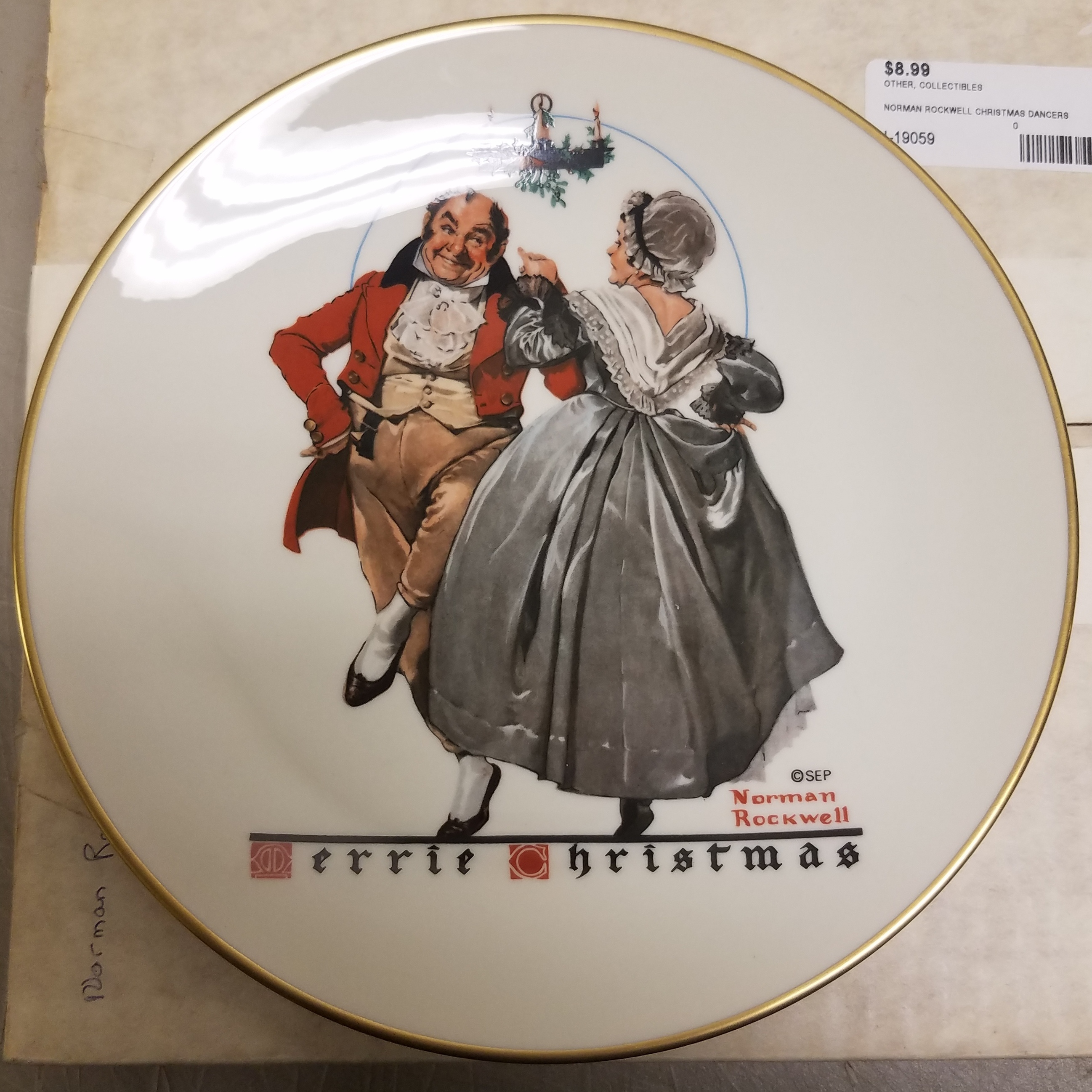COLLECTIBLES- NORMAN ROCKWELL CHRISTMAS DANCERS PLATE