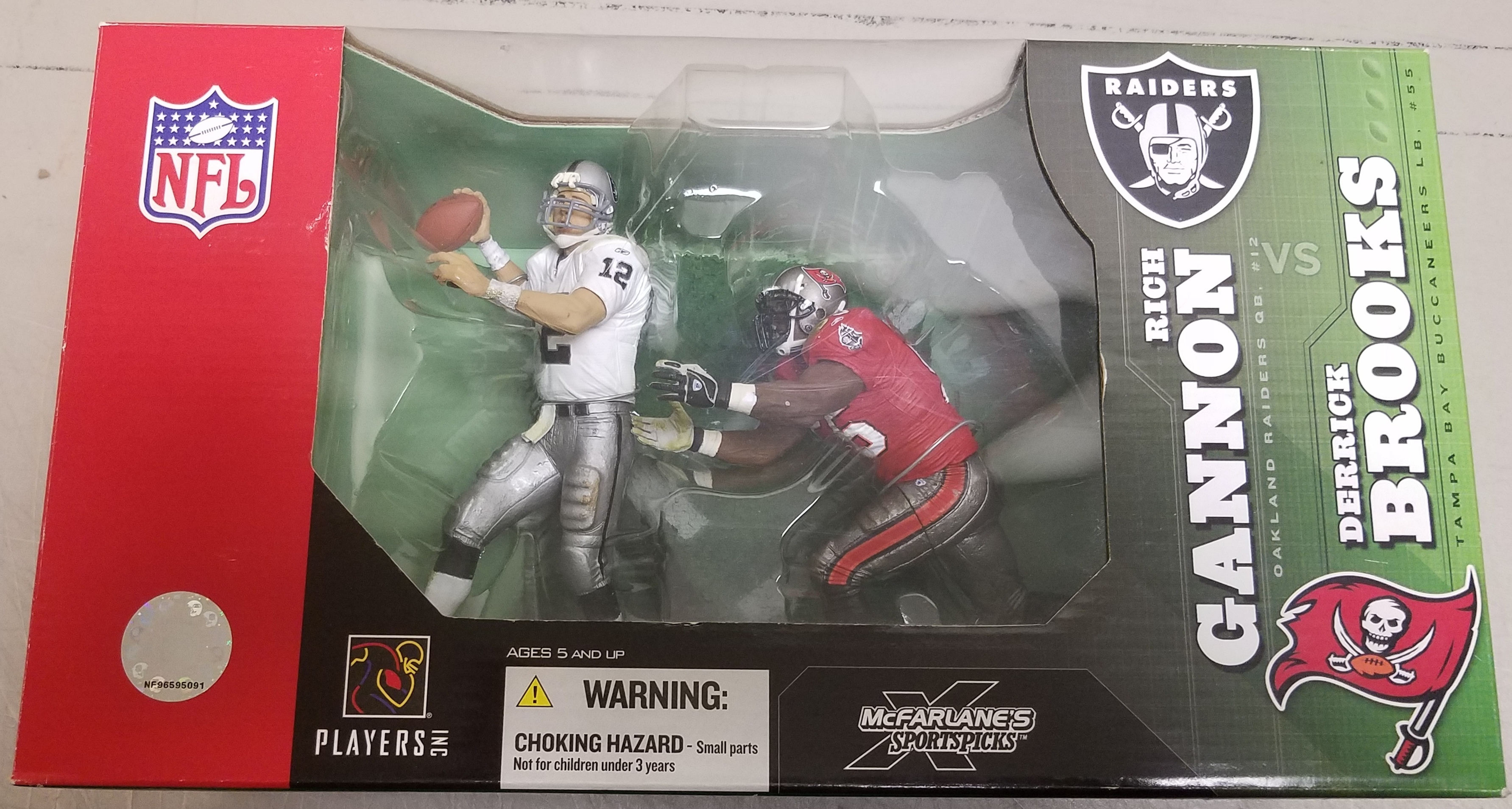 NFL COLLECTIBLES - RAIDERS RICH GANNON VS TAMPA BAY BUCS DERRICK BROOKS