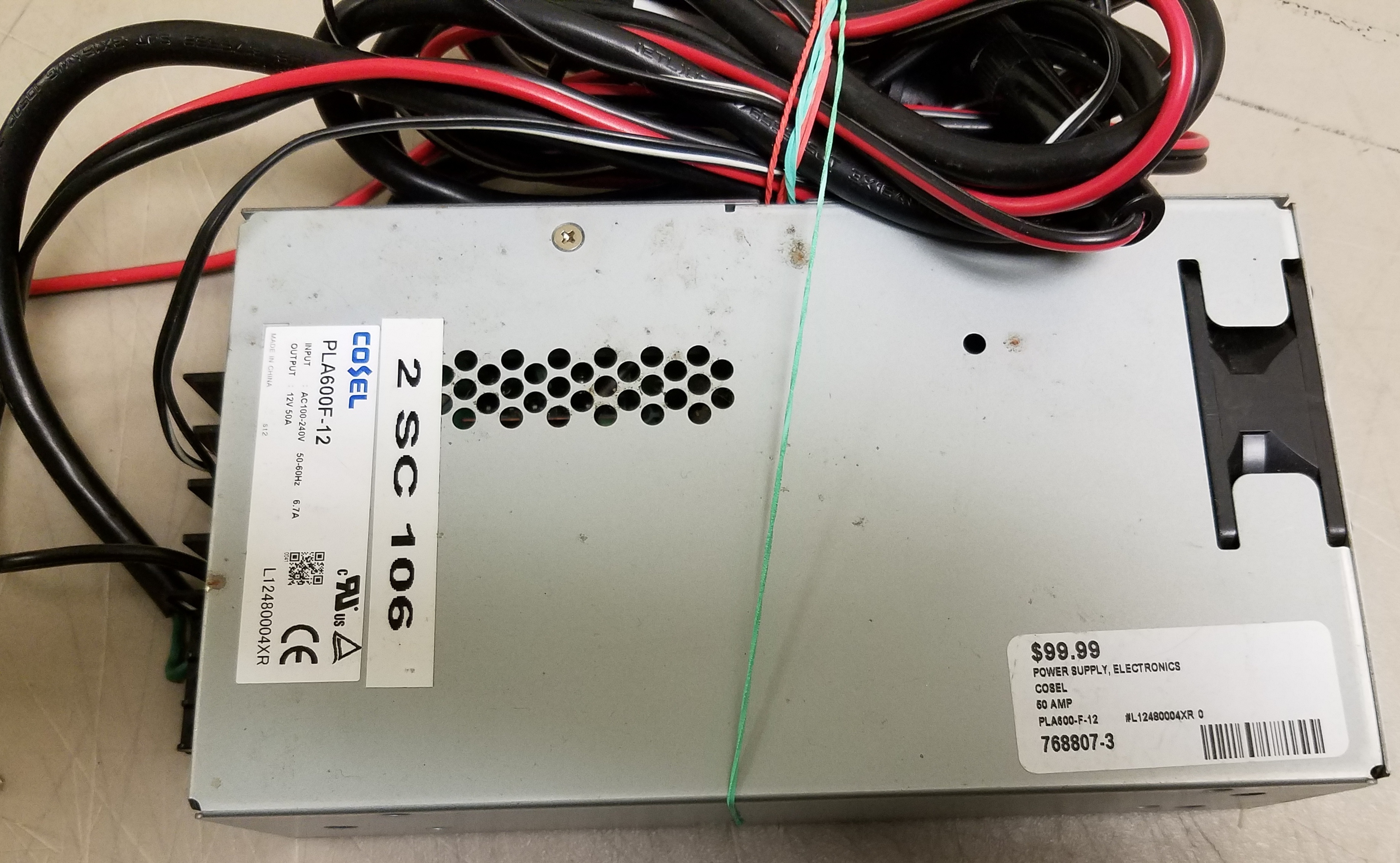 COSEL - PLA600-F-12 - 50 AMP POWER SUPPLY