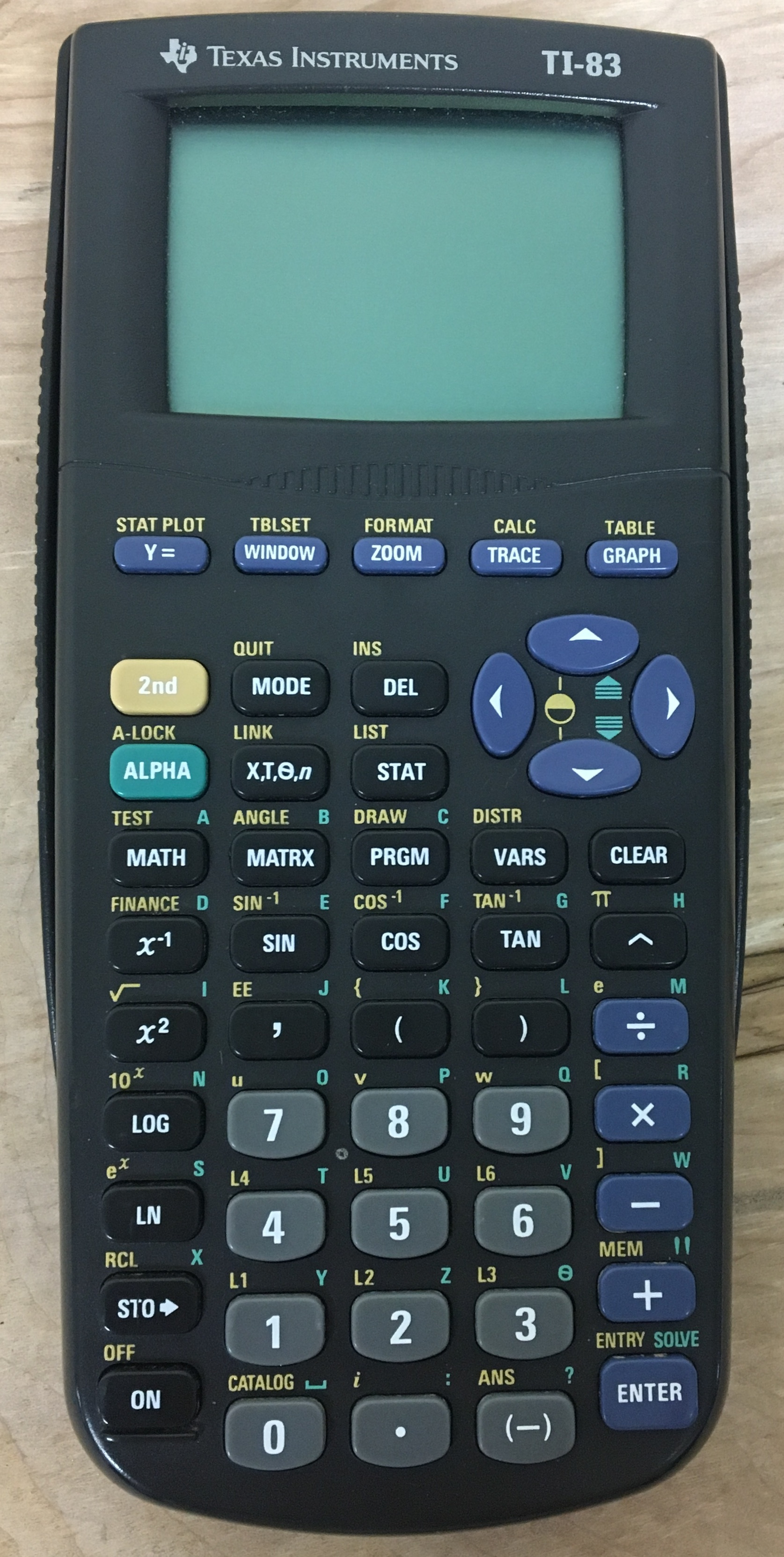 ELECTRONICS: TEXAS INSTRUMENT TI-83 CALCULATOR W/ COVER