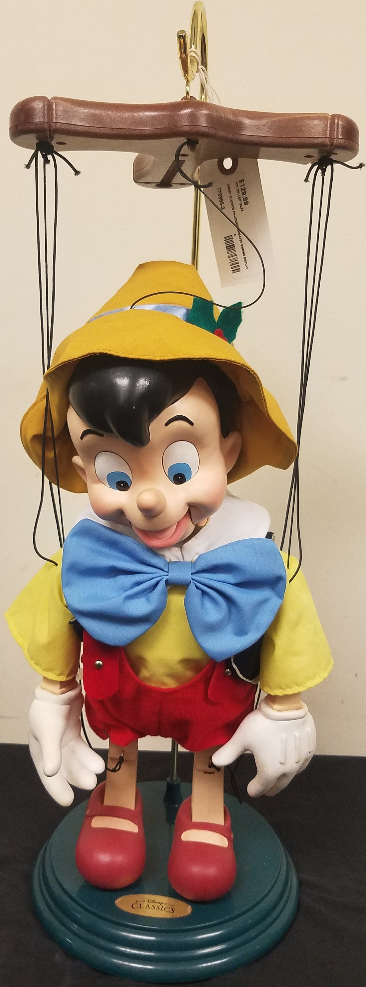 VINTAGE DISNEY CLASSICS PINOCCHIO ANIMATED SINGING DISPLAY FIGURE
