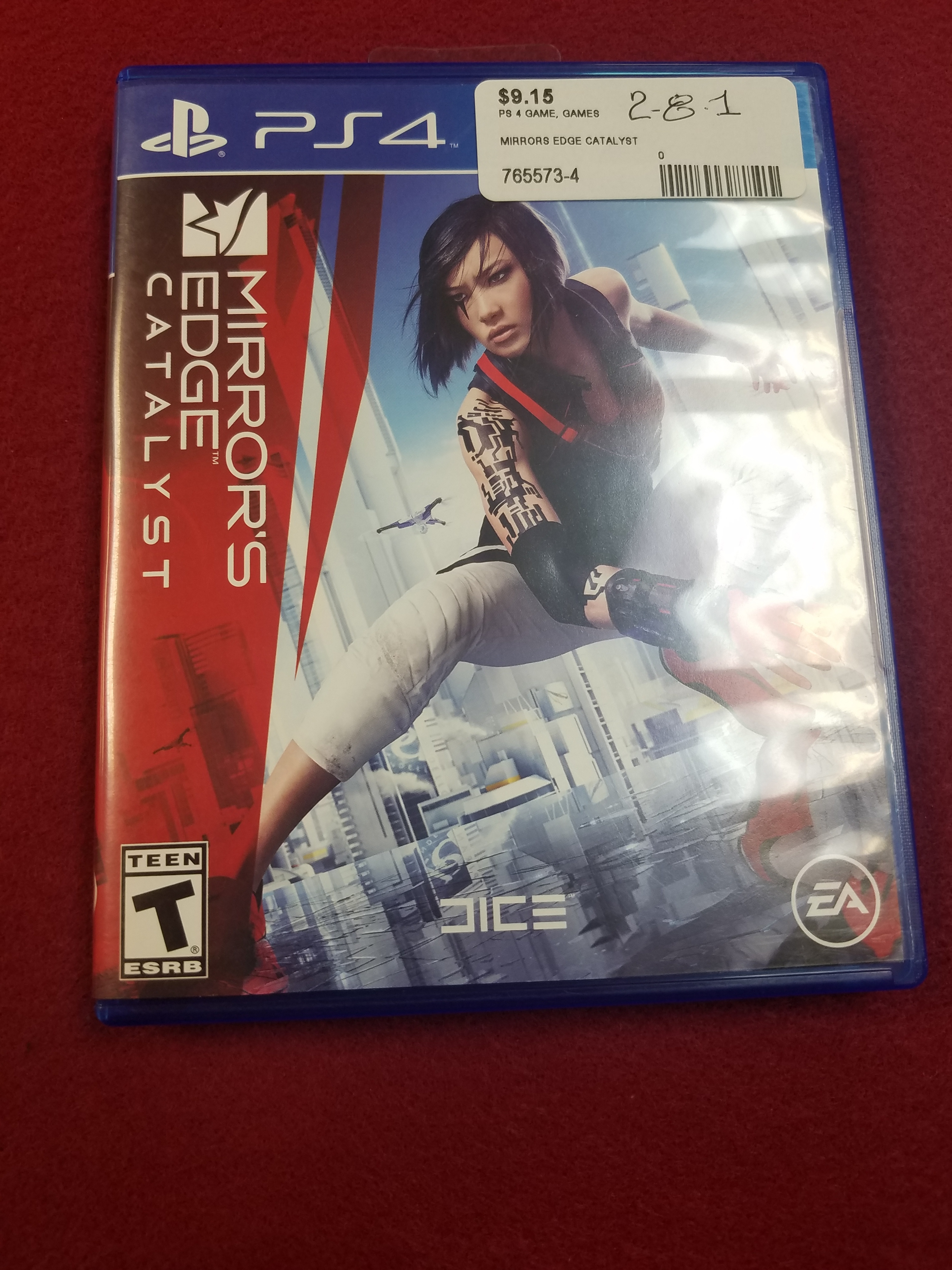 PS4 GAME - MIRRORS EDGE CATALYST