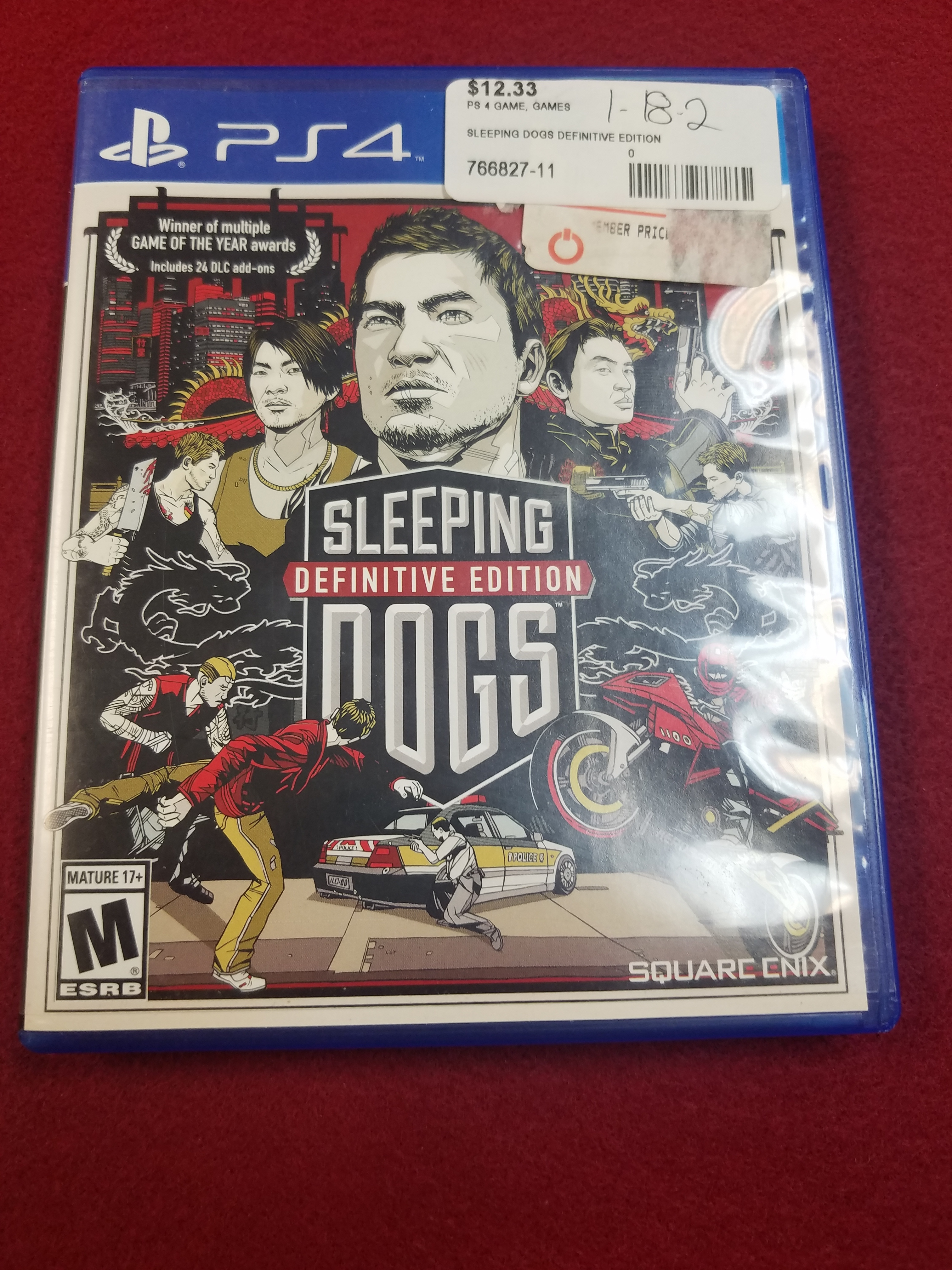 PS4 GAME - SLEEPING DOGS DEFINITIVE EDITION