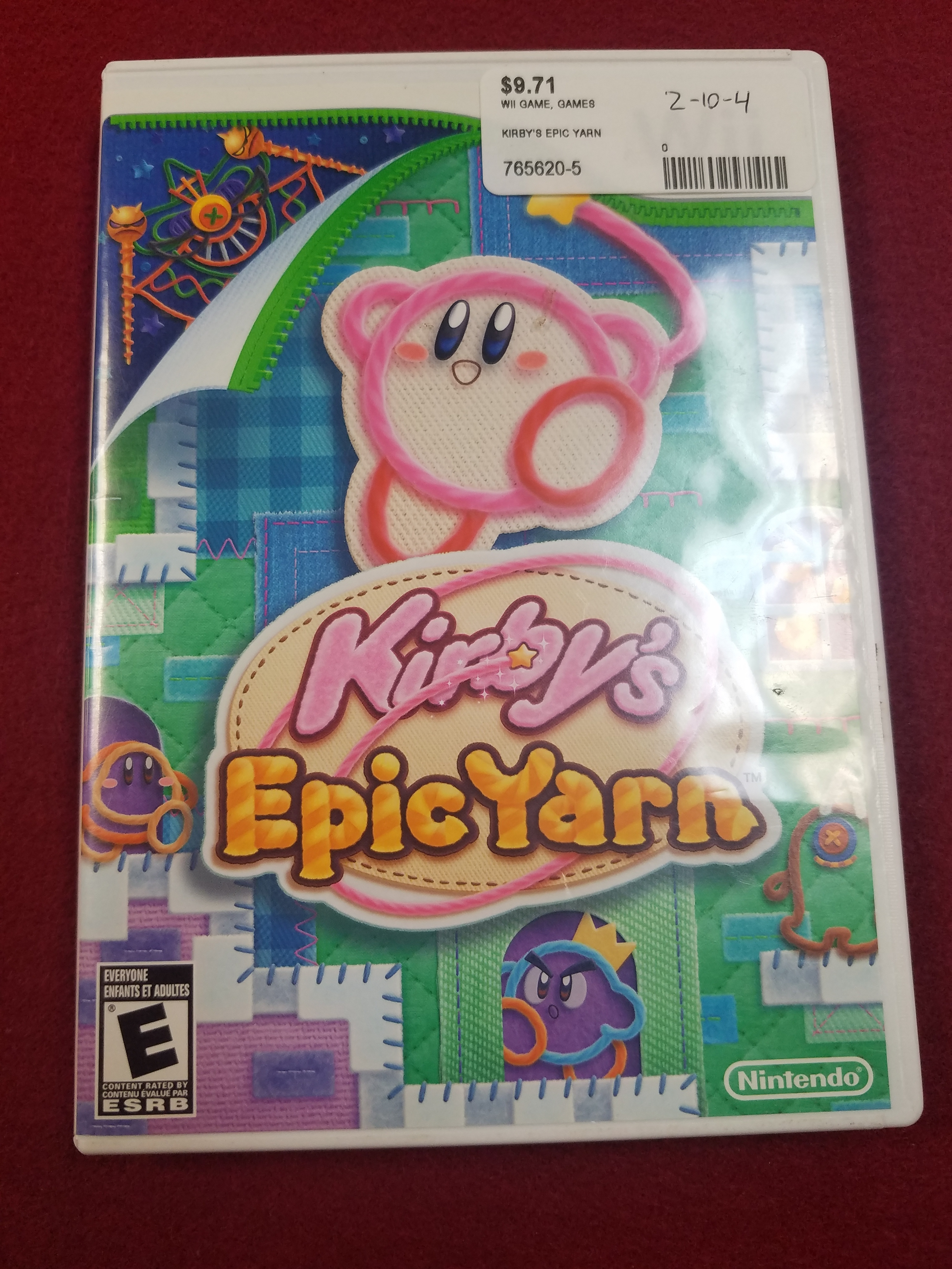 WII GAME - KIRBY'S EPIC YARN