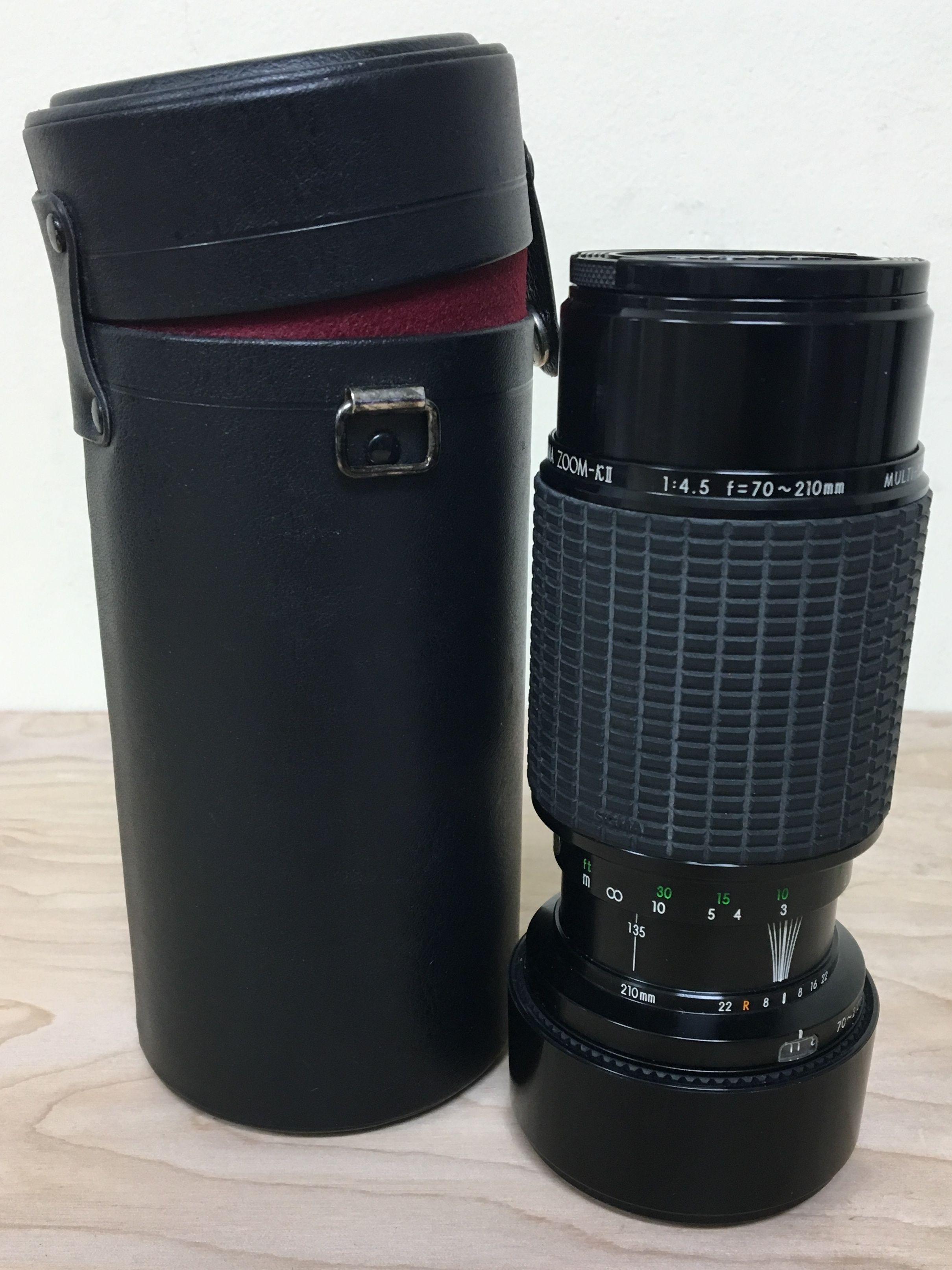 SIGMA CAMERA LENS - ZOOM-KII 70-210MM - COMES WITH CASE