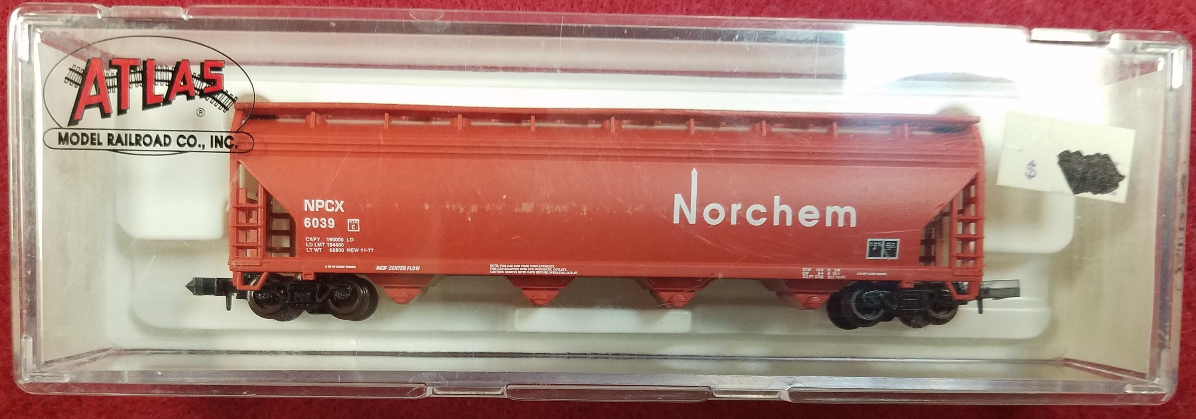 ATLAS - N SCALE - NPCX 6039 - 3955 ACF 4 BAY CENTER FLOW - NORCHEM