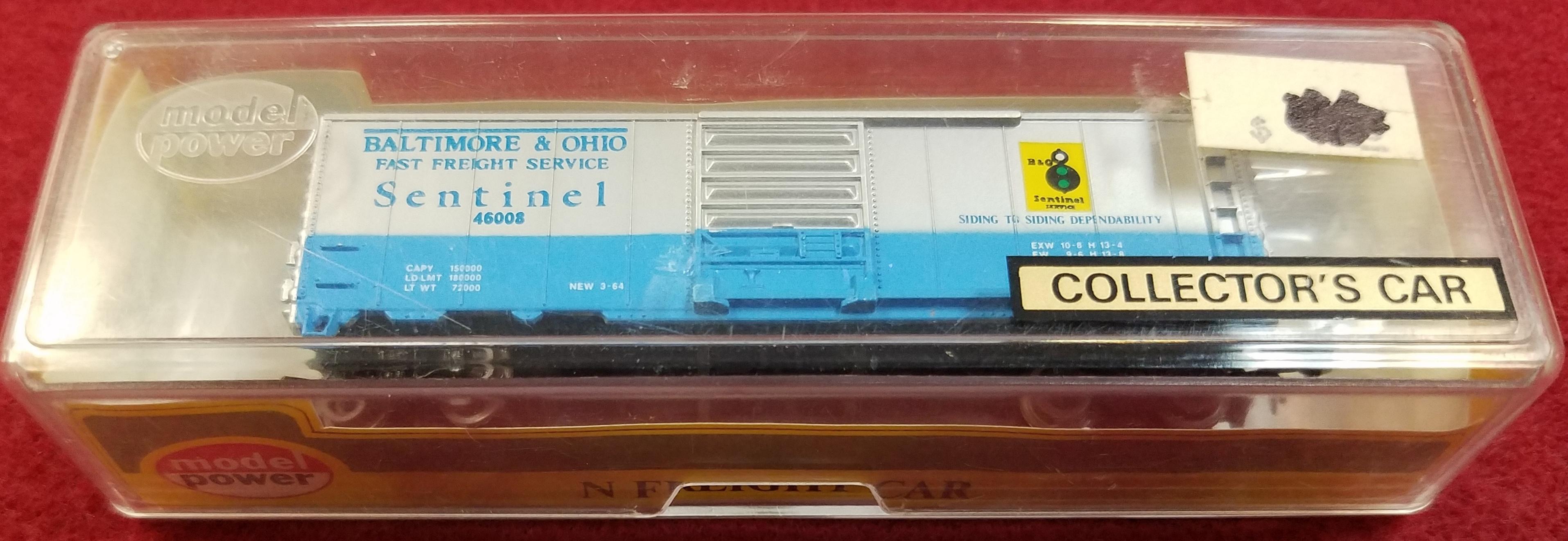 MODEL POWER - N SCALE - BALTIMORE & OHIO SENTINEL 46008 - NO.3701