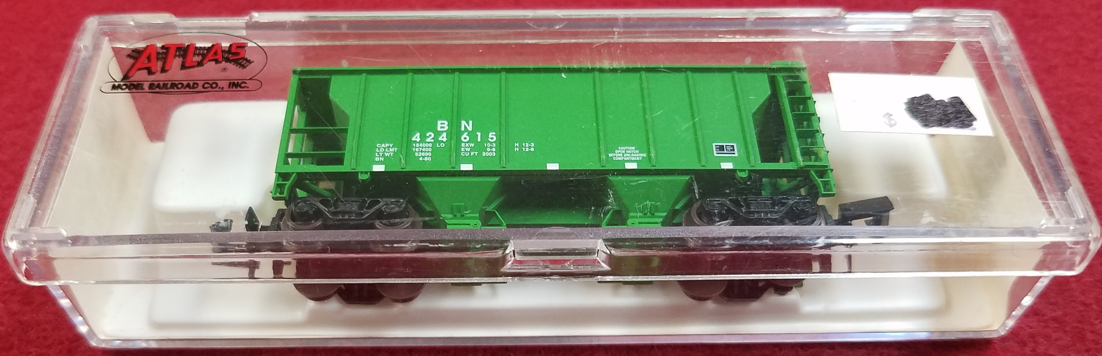 ATLAS - N SCALE - BN 424615 - 3152 2BAY PS-2 - BURLINGTON NORTHERN