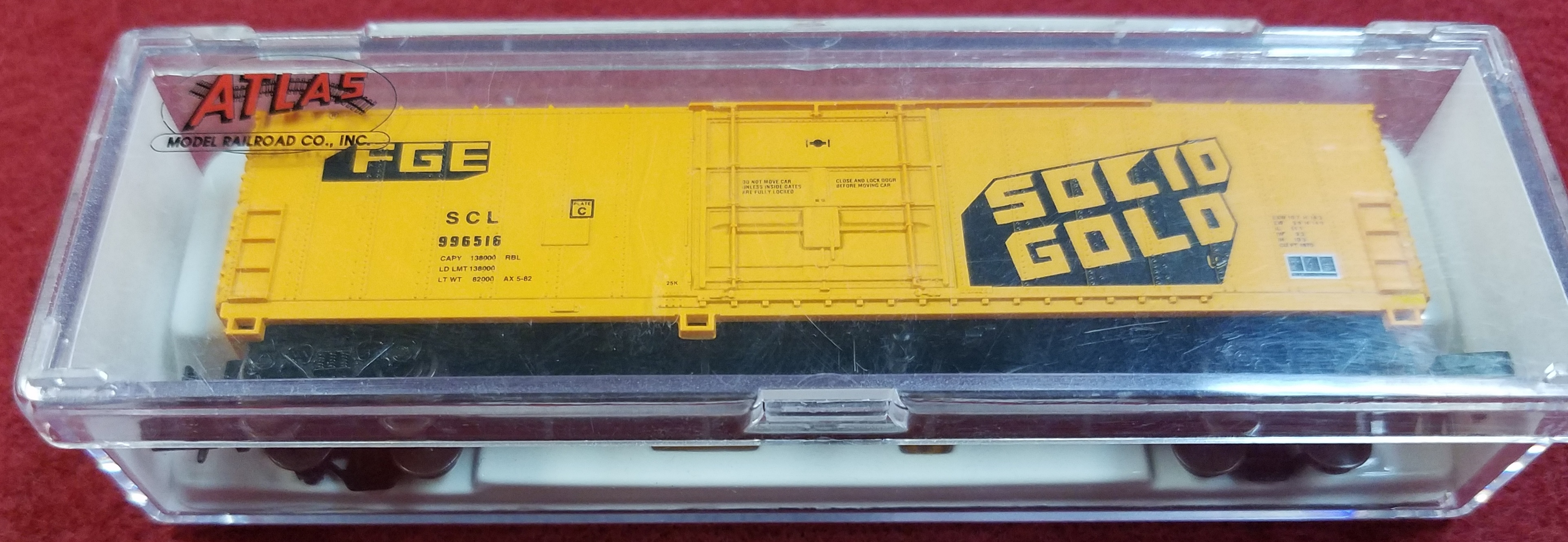 ATLAS - N SCALE - FGE SCL 996516 - 5840C 50' FGE BOX CAR SOLID GOLD