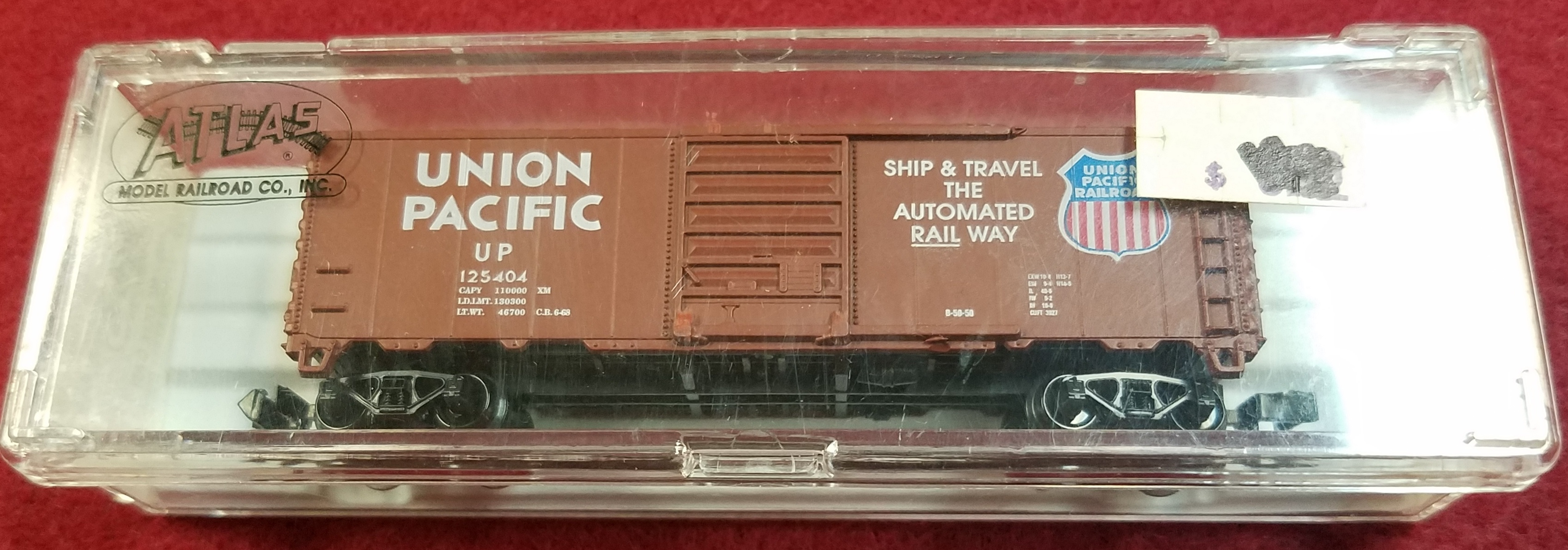 ATLAS - N SCALE - UP 125404 - 3440 40' BOX CAR - UNION PACIFIC RAILWAY