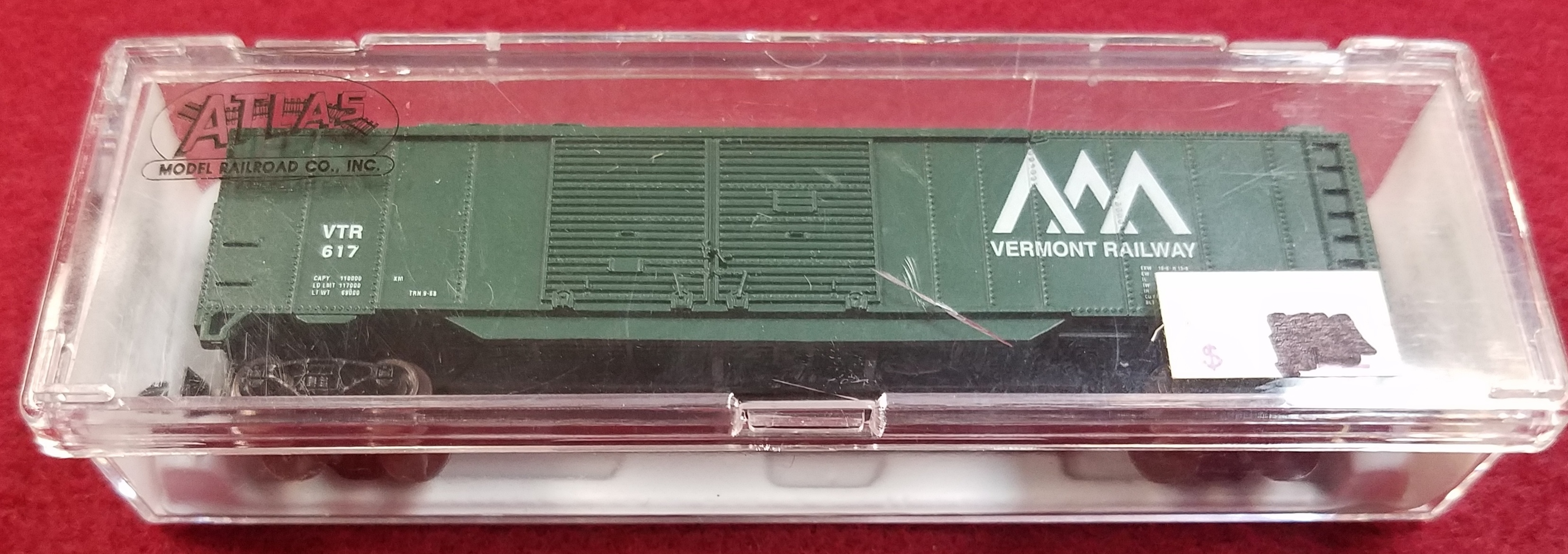 ATLAS - N SCALE - VTR 617 - 3630 50' DBL DOOR BOX CAR - VERMONT RAILWAY