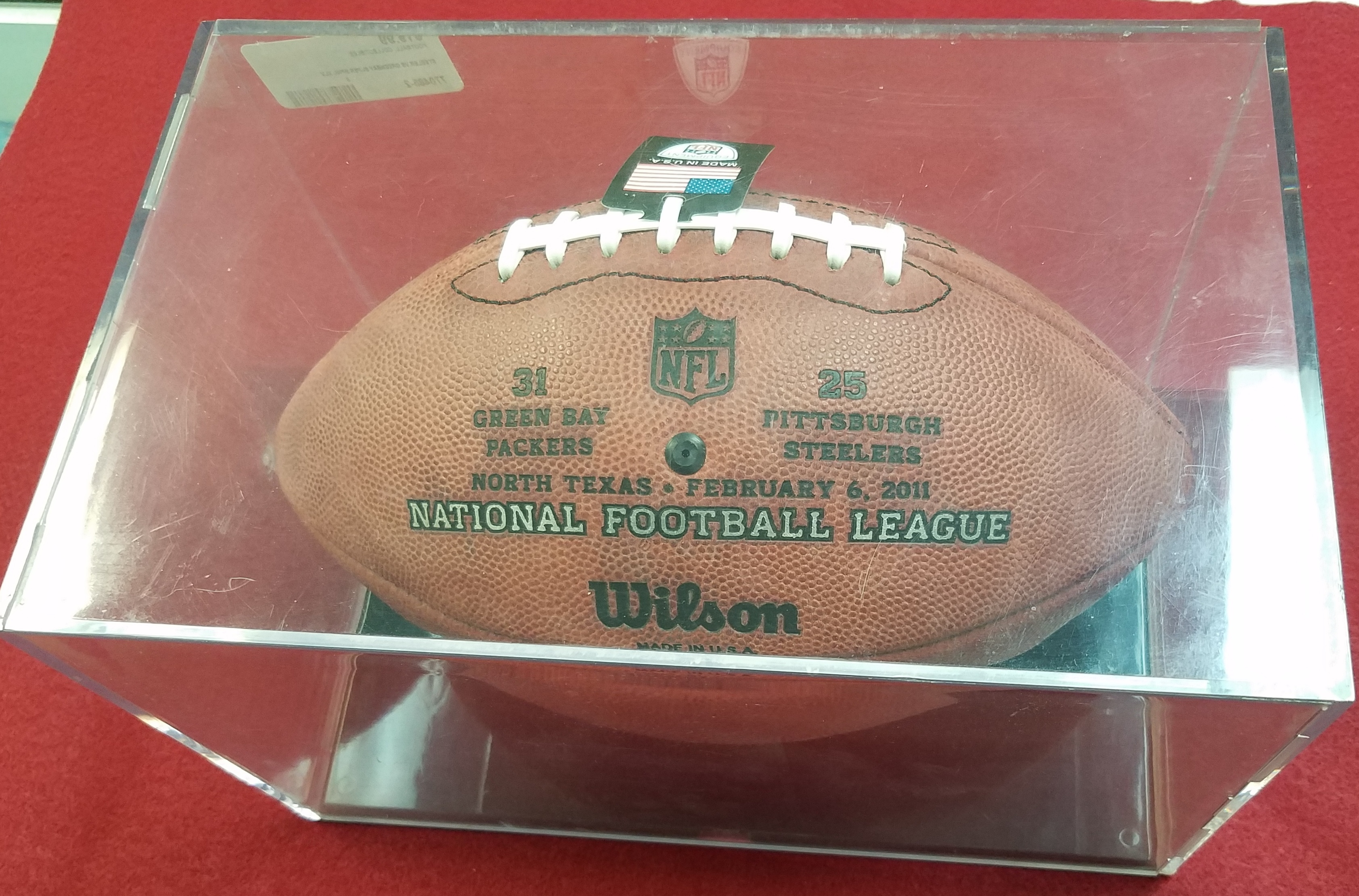 SUPERBOWL 45 XLV OFFICIAL NFL ON FIELD GAME FOOTBALL STEELERS VS GREENBAY