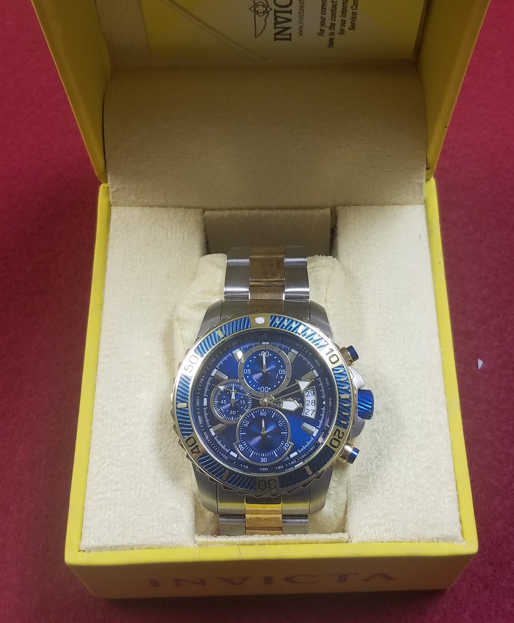 INVICTA STAINLESS STEEL WATCH - 45MM PRO DIVER CHRONOGRAPH