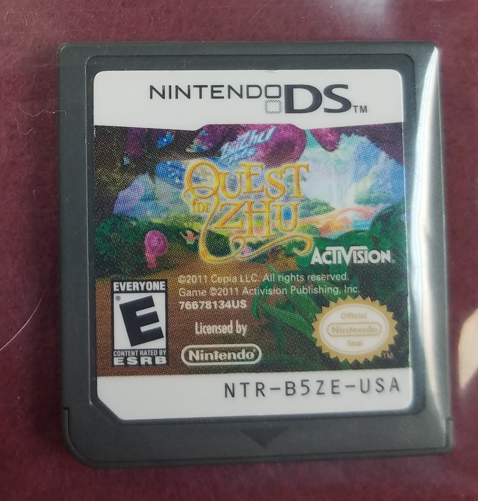NINTENDO DSi GAMES - QUEST FOR ZHU
