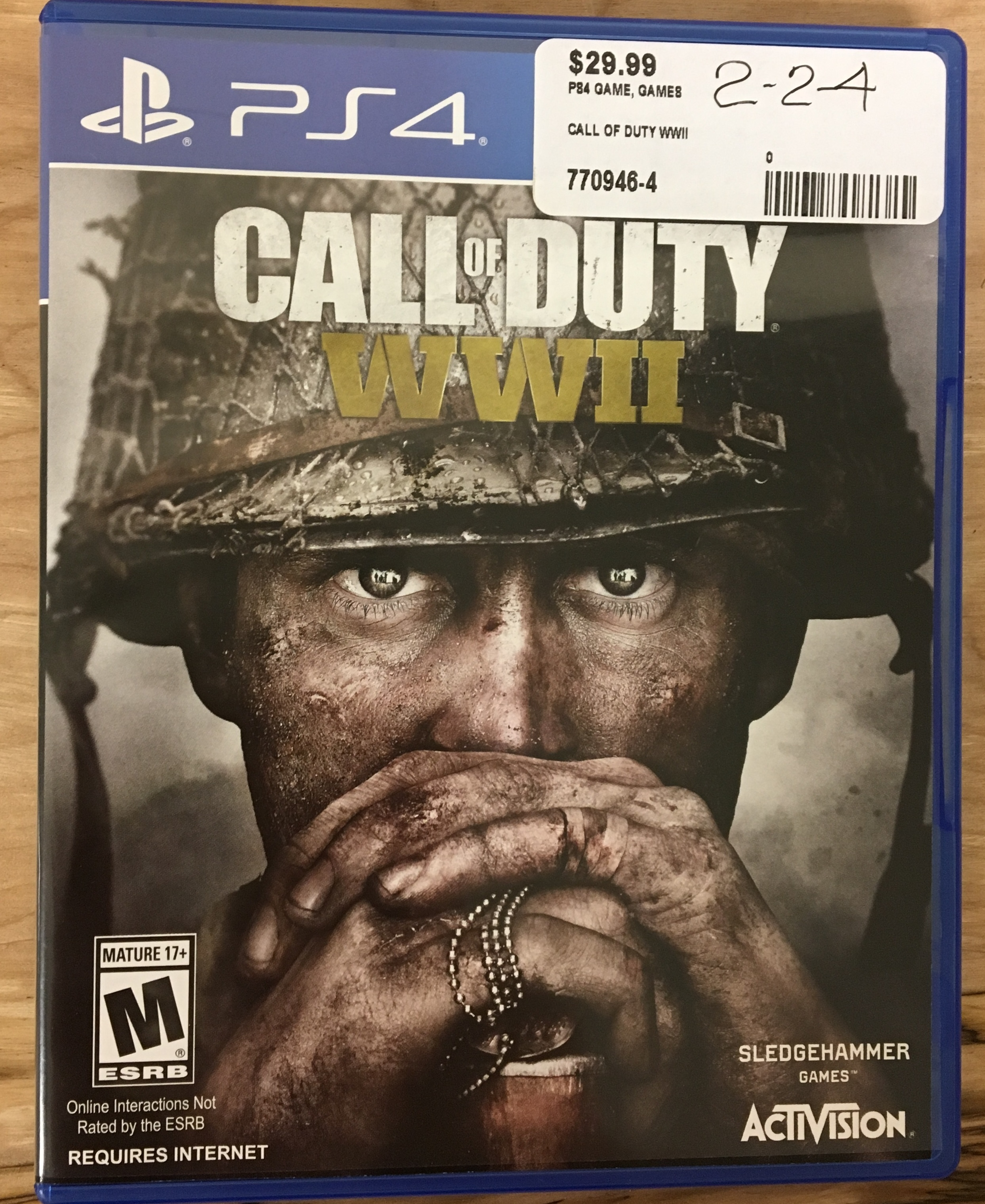 PS4 GAMES - CALL OF DUTY WWII