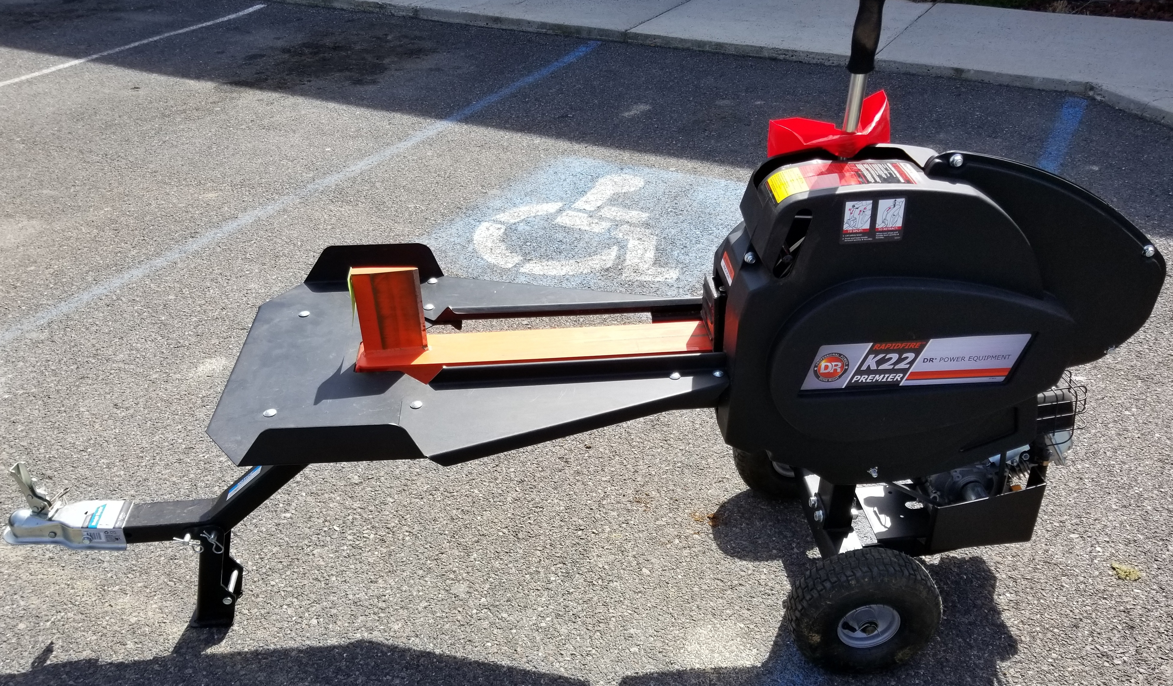 DR PREMIER - K22 - RAPID FIRE LOG SPLITTER - ENGINE MODEL R100-III 345061, TOW KIT, TABLE KIT #37195