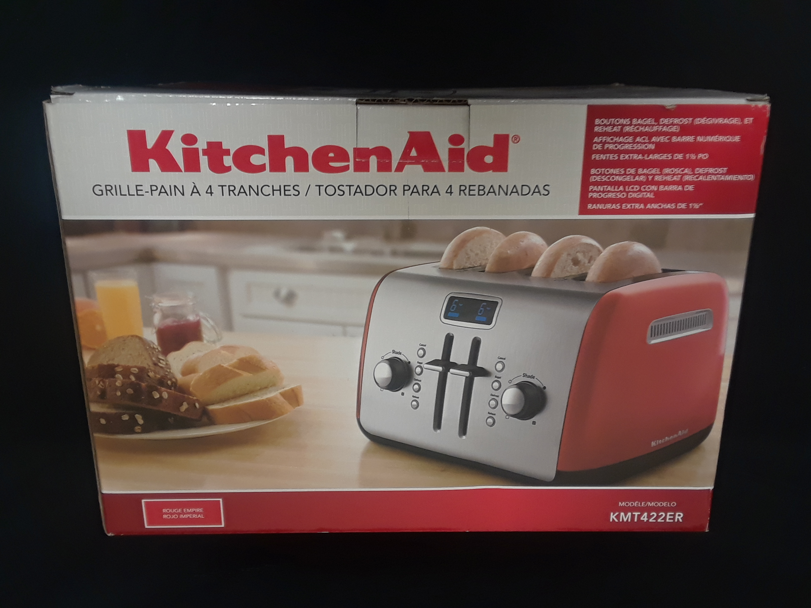 KITCHENAID TOASTER- MODEL: KMT422ER