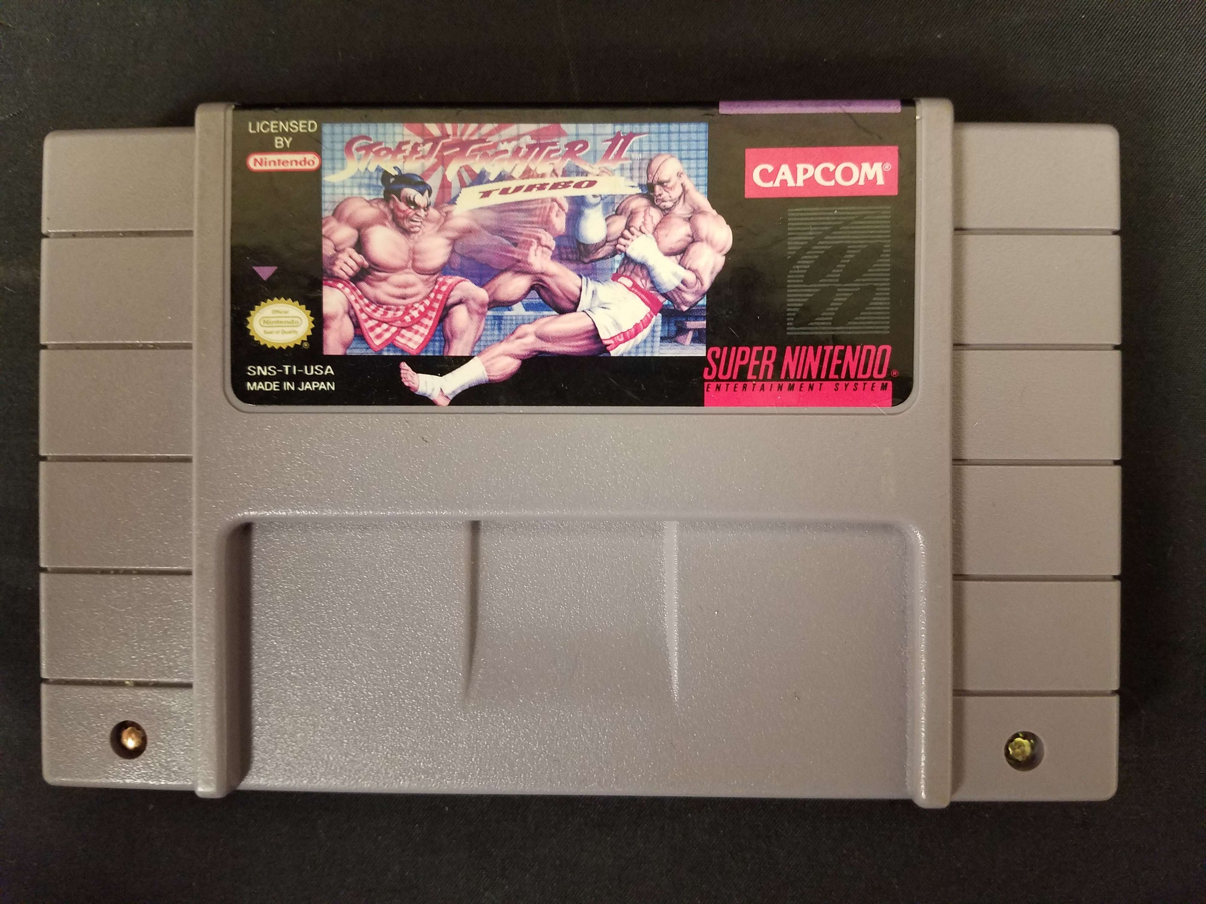 SUPER NINTENDO GAME: STREET FIGHTER II TURBO