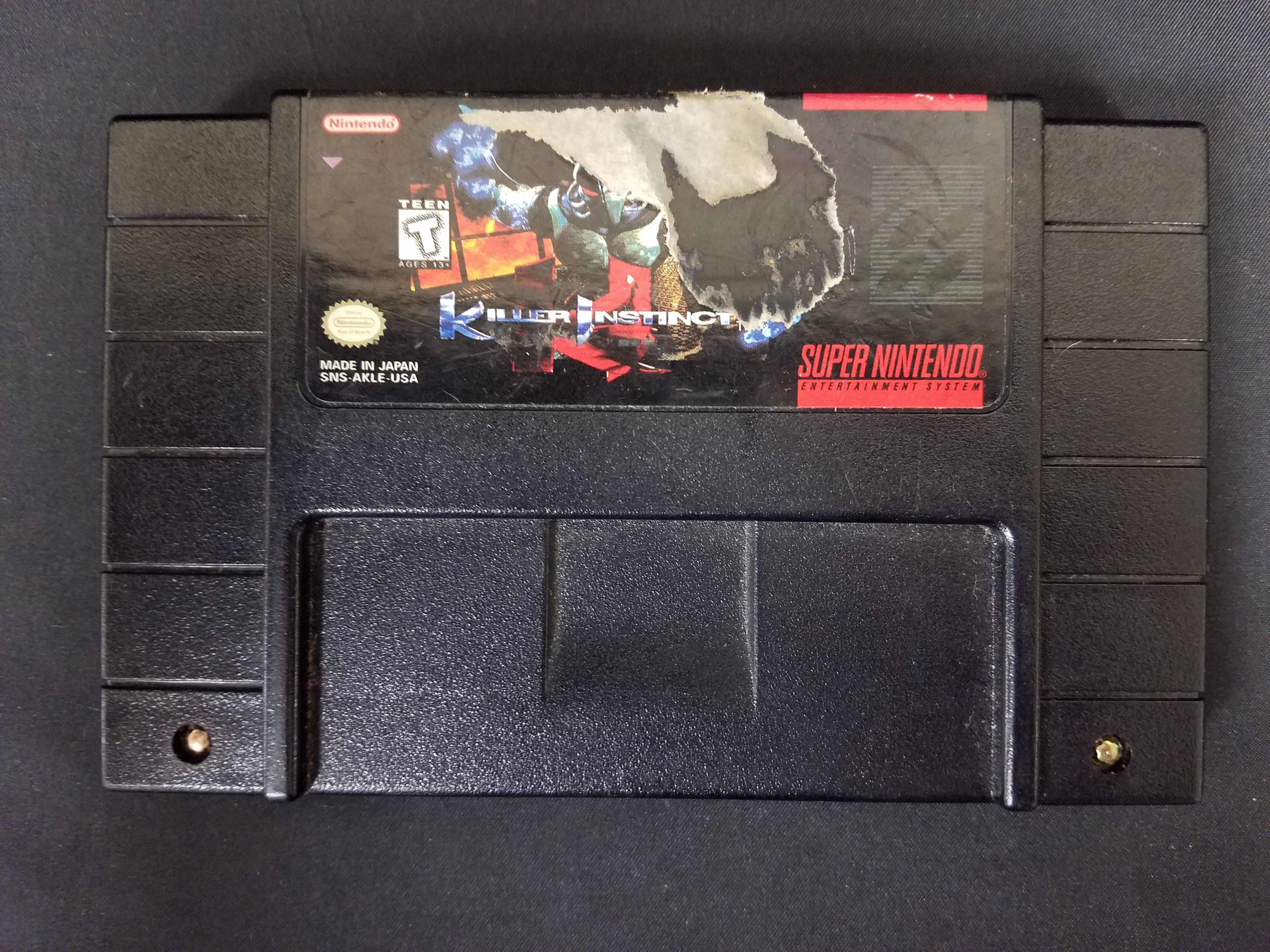 SUPER NINTENDO GAME: KILLER INSTINCTS