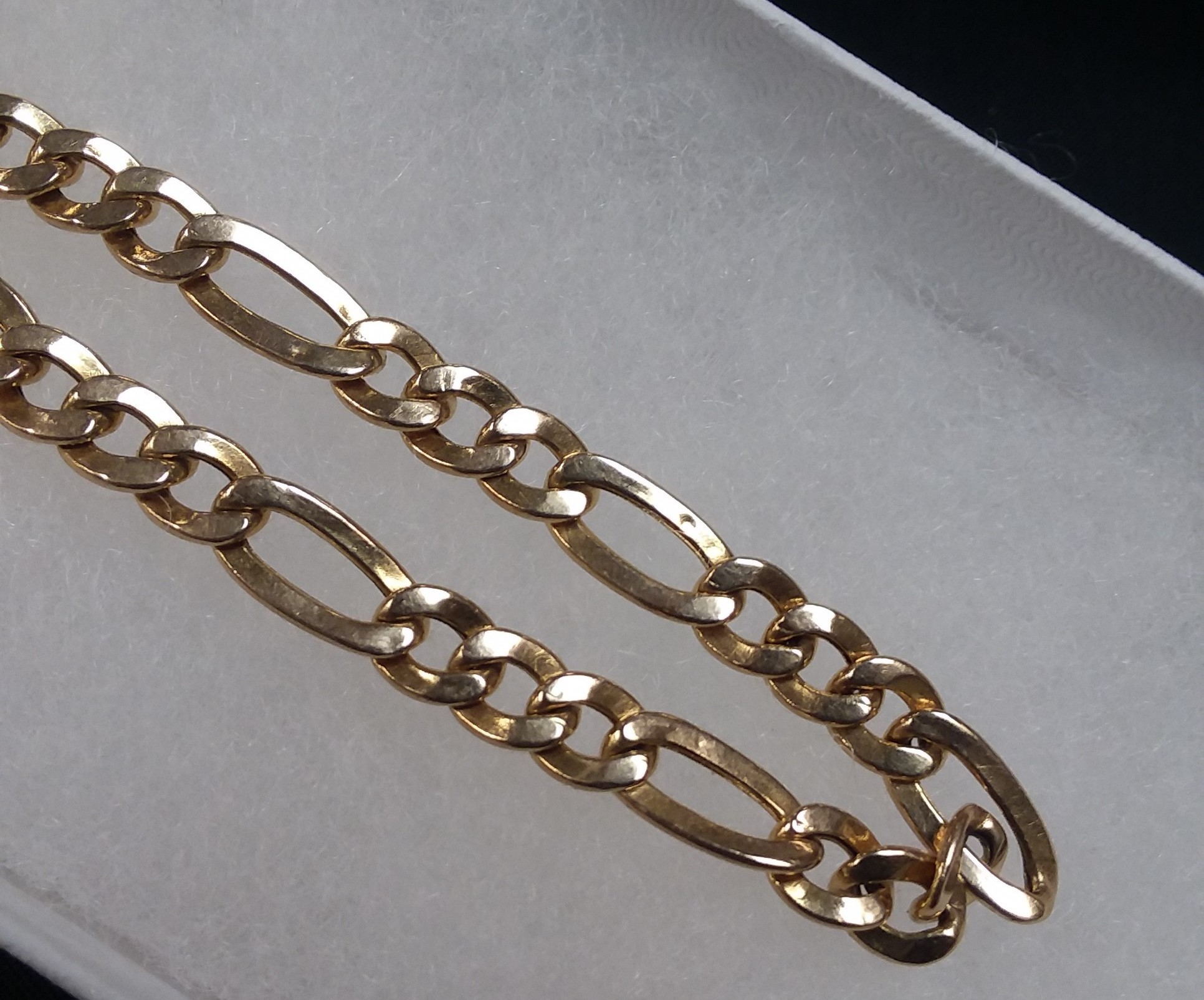 14KT GOLD - YELLOW GOLD - FIGARO - LENGTH: 8