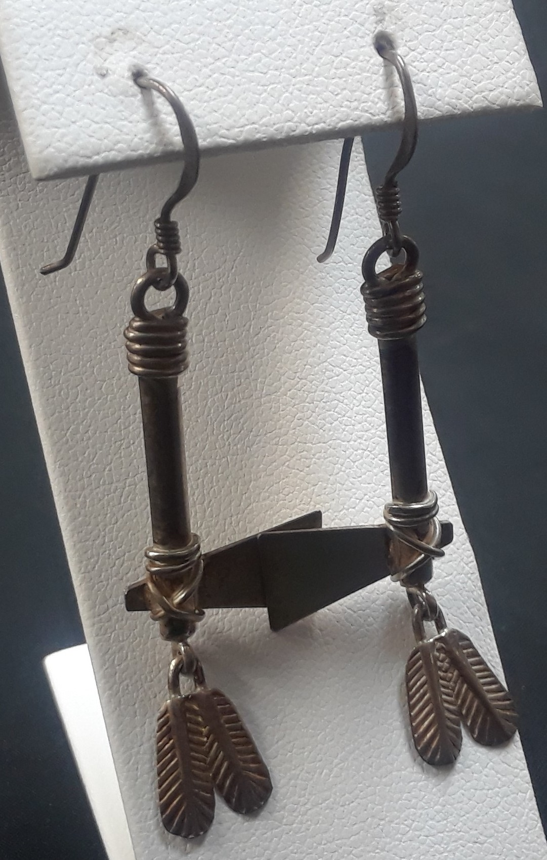 .925 EARRINGS AXE AND FEATHER SET