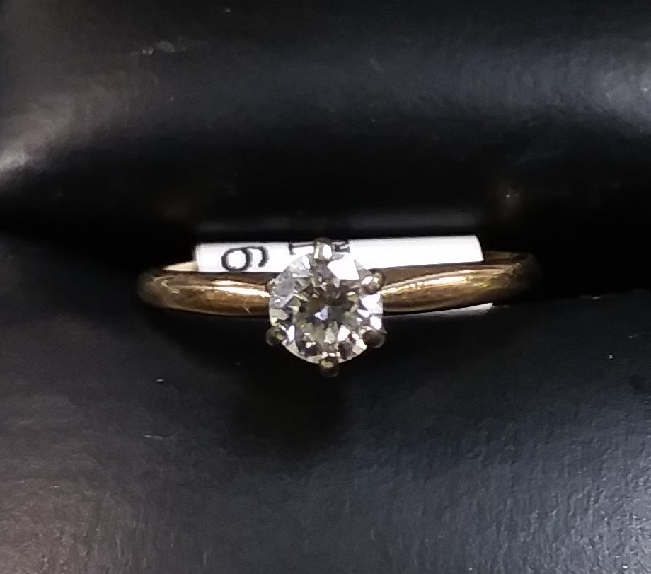 10KT TWO-TONED DIAMOND RING