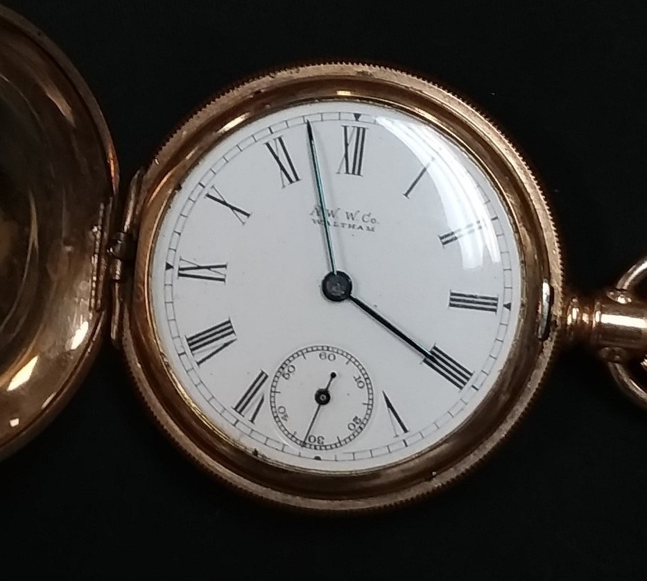 C.W.C.CO - GOLD PLATED POCKET WATCH