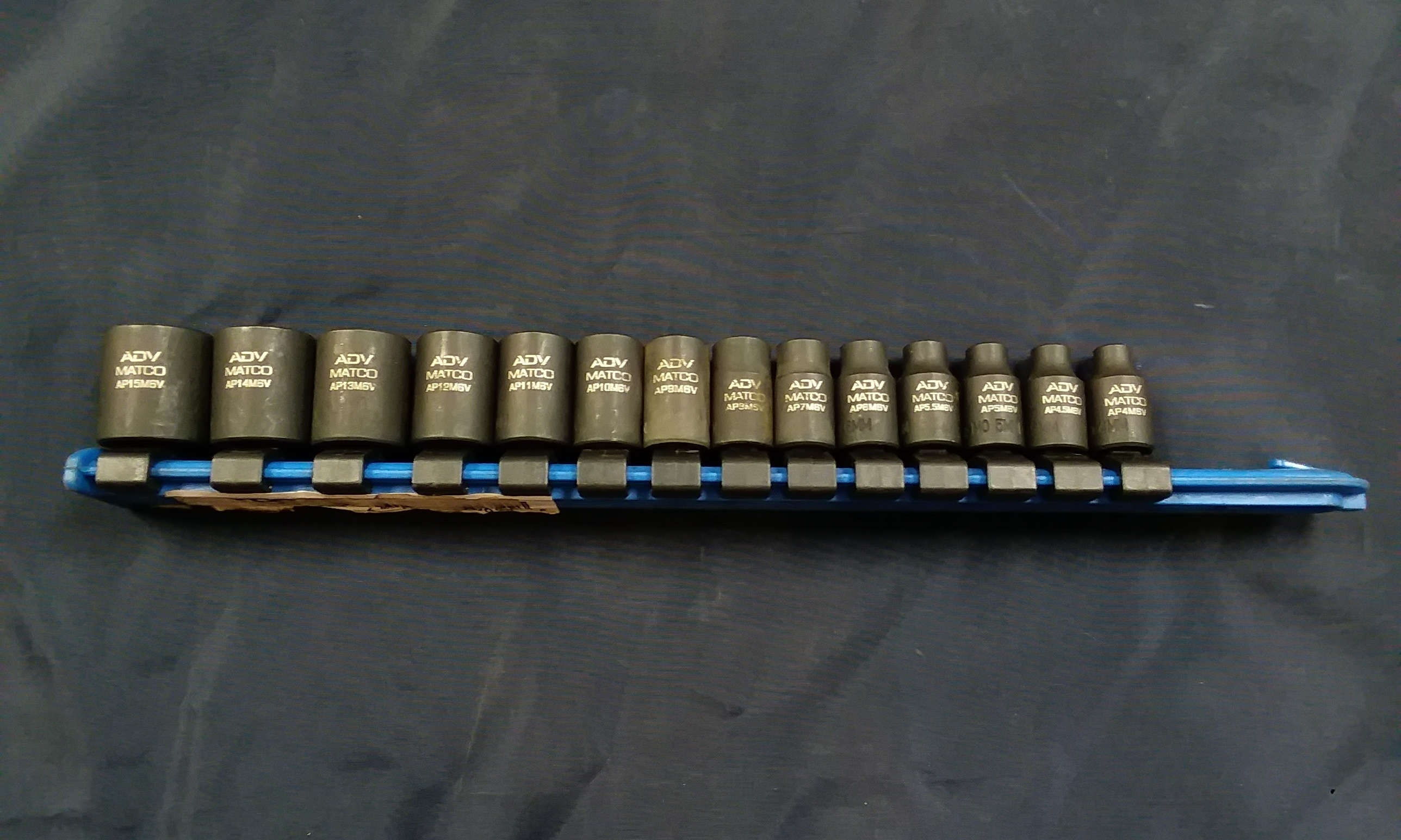 TOOLS: MATCO - 15MM-4MM SOCKET SET