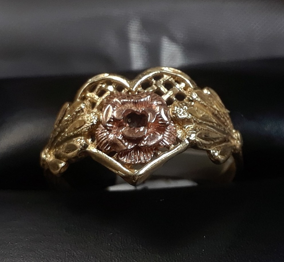 10 TWO-TONED GOLD RING