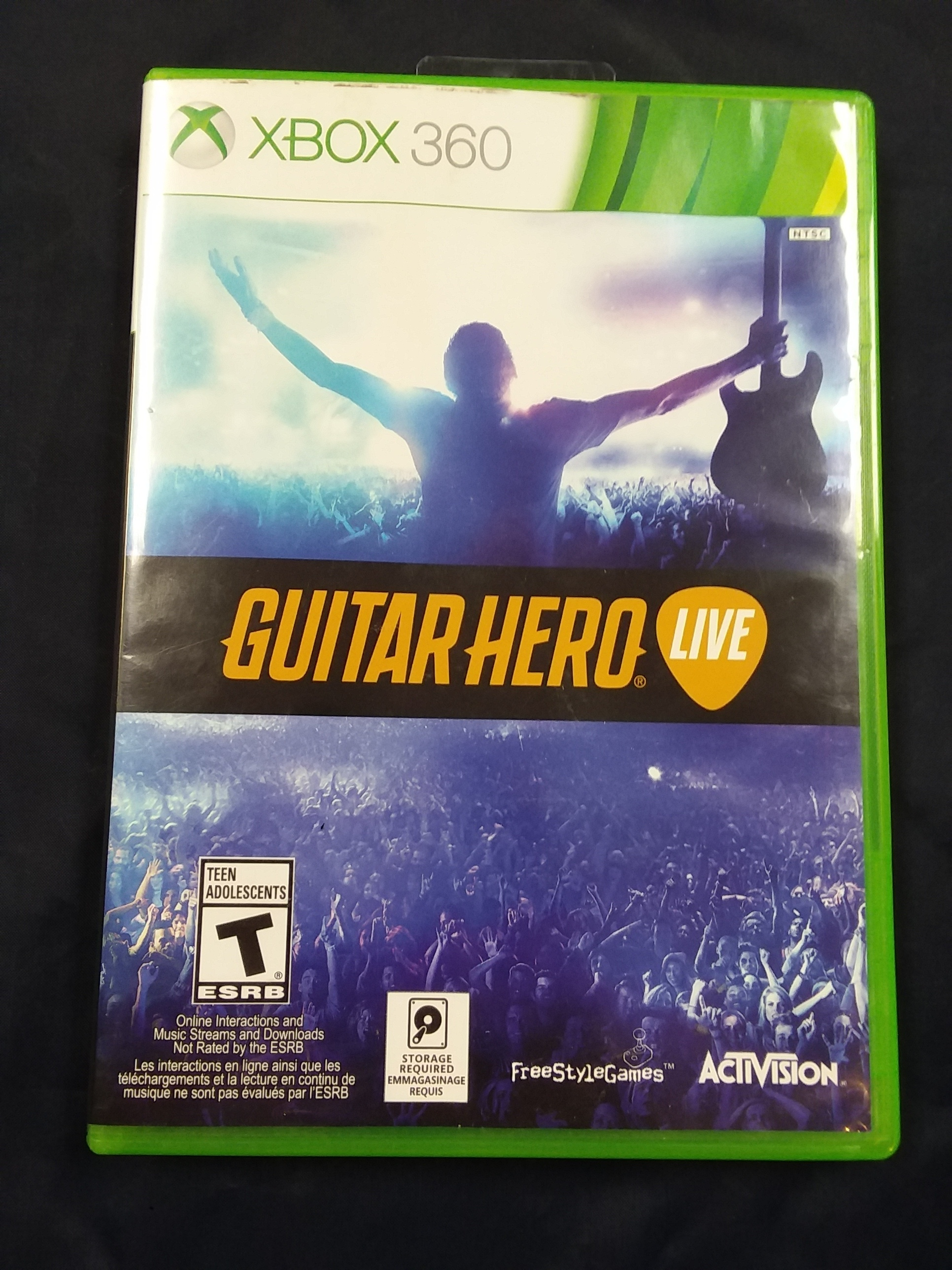 GAMES: XBOX GAME - GUITAR HERO LIVE W/ GUITAR AND DONGLE