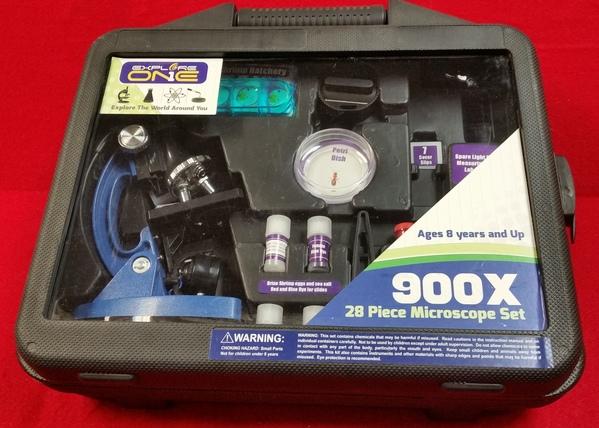 EXPLORE ONE - 900X 28 PIECE MICROSCOPE SET